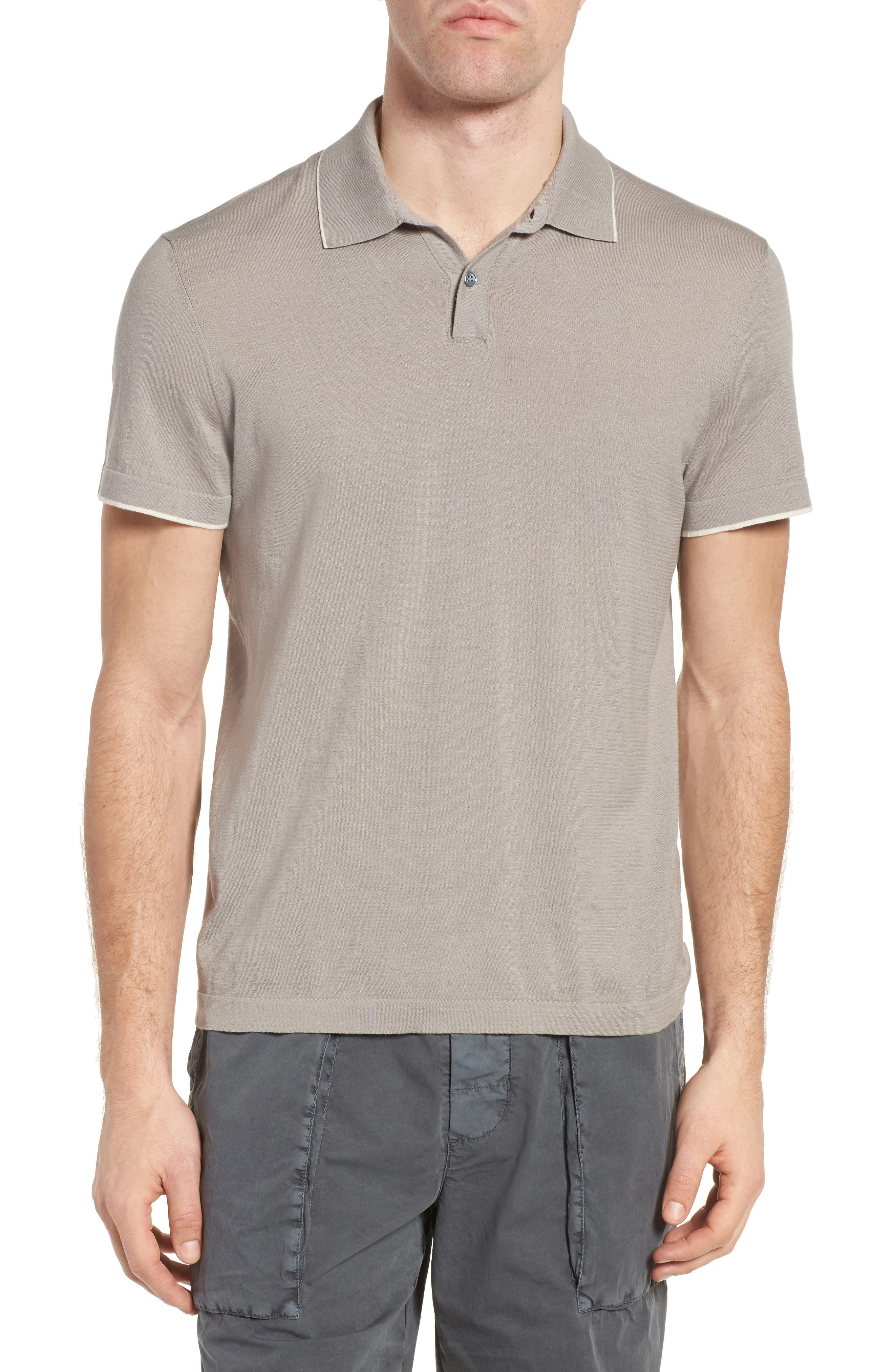 Fine Gauge Tipped Polo,                             Main thumbnail 3, color,