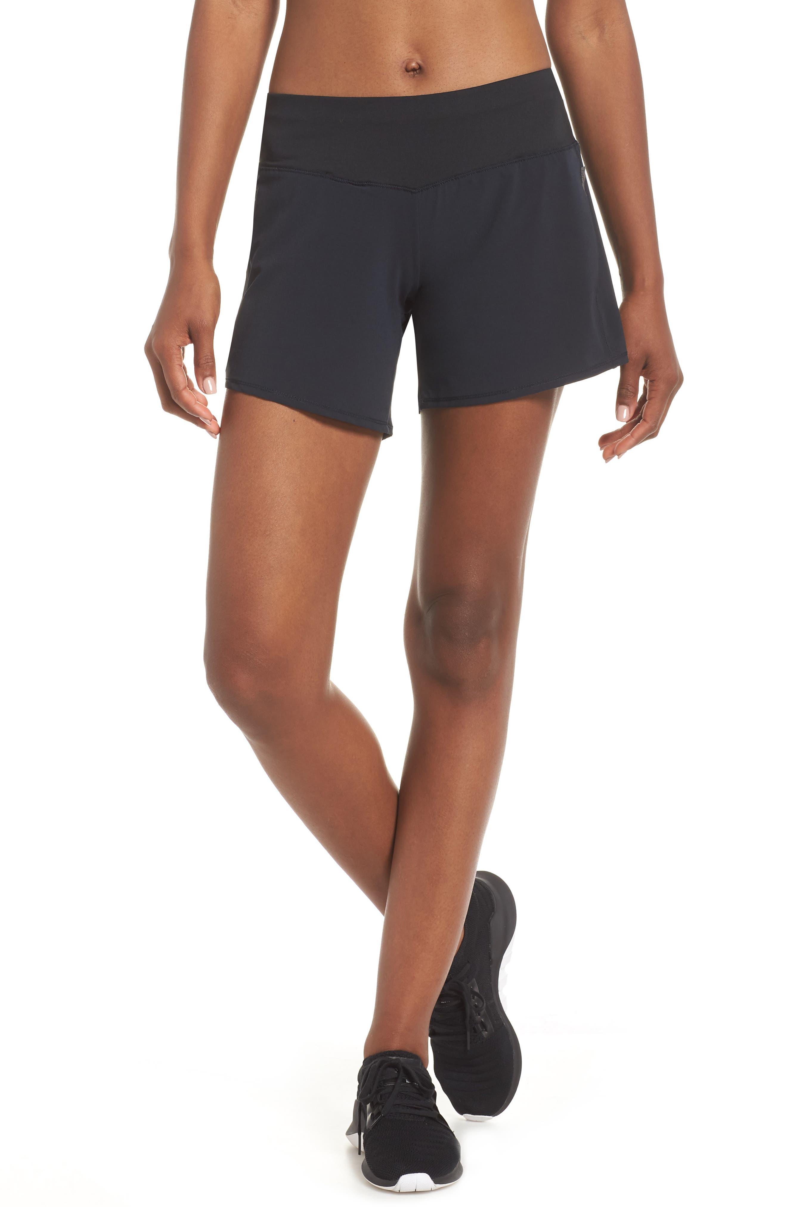 Long Roga Shorts,                             Main thumbnail 1, color,                             BLACK