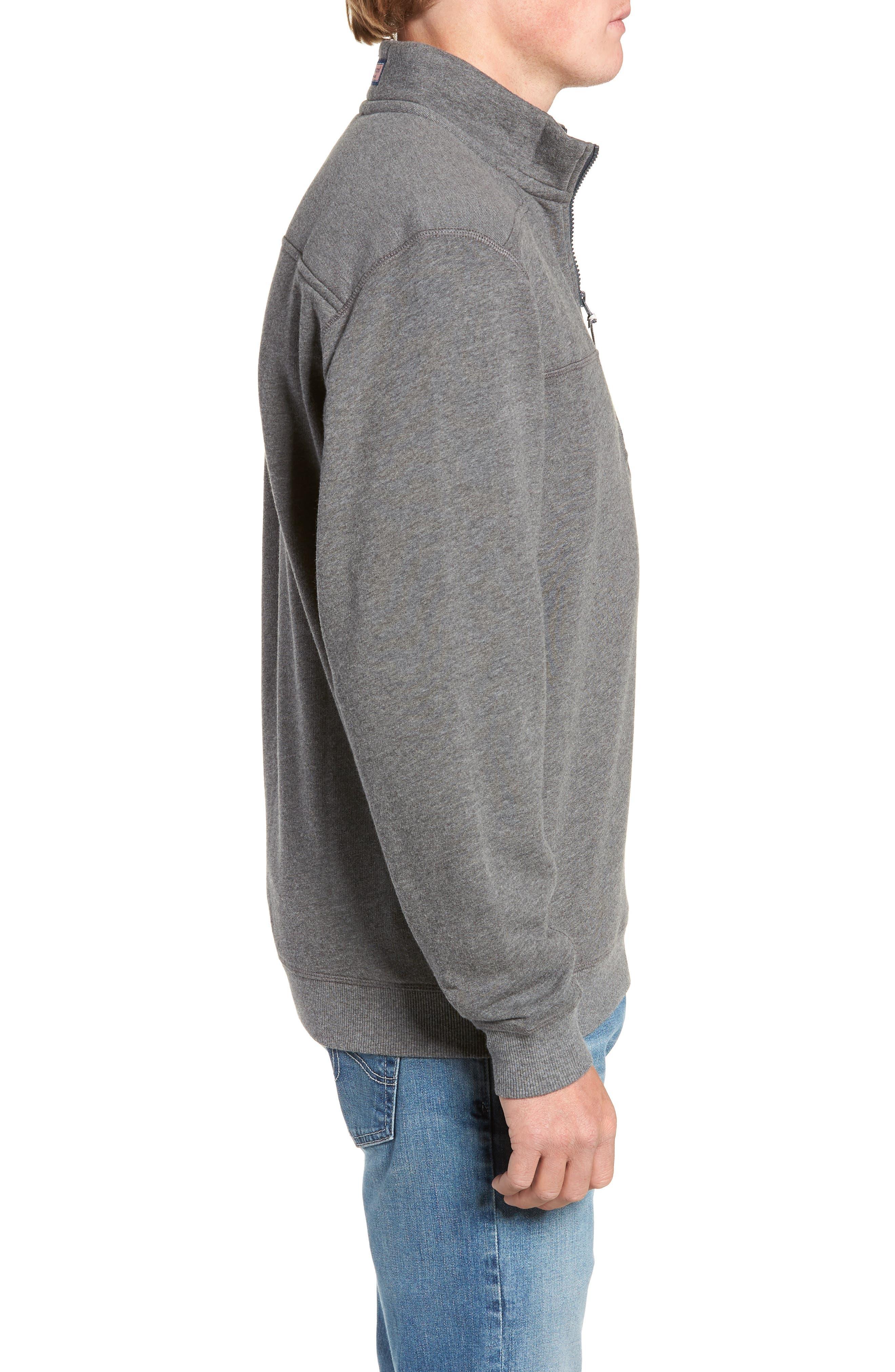 VINEYARD VINES,                             Collegiate Half Zip Pullover,                             Alternate thumbnail 3, color,                             023