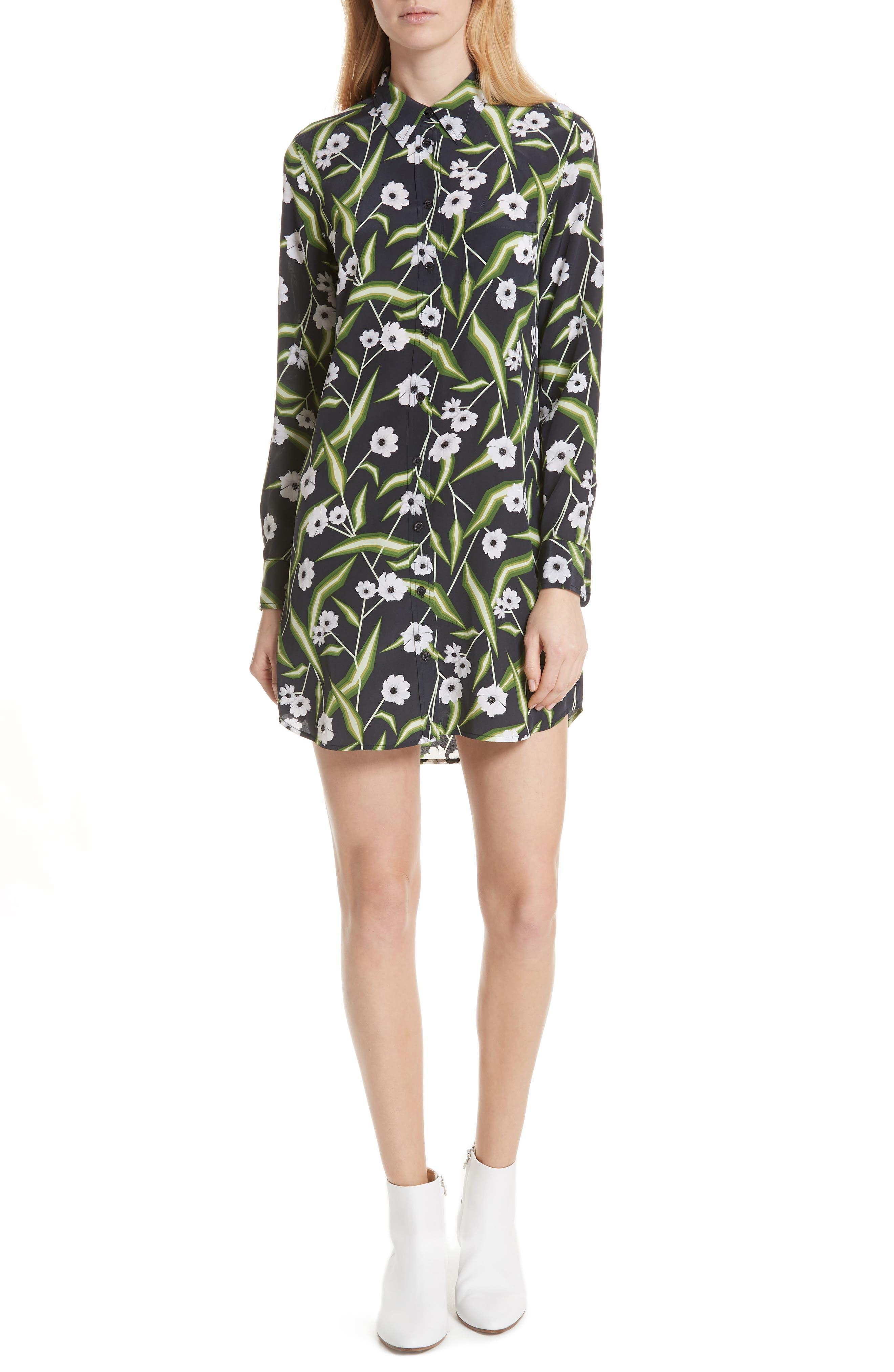 Brett Silk Shirtdress,                         Main,                         color, 426