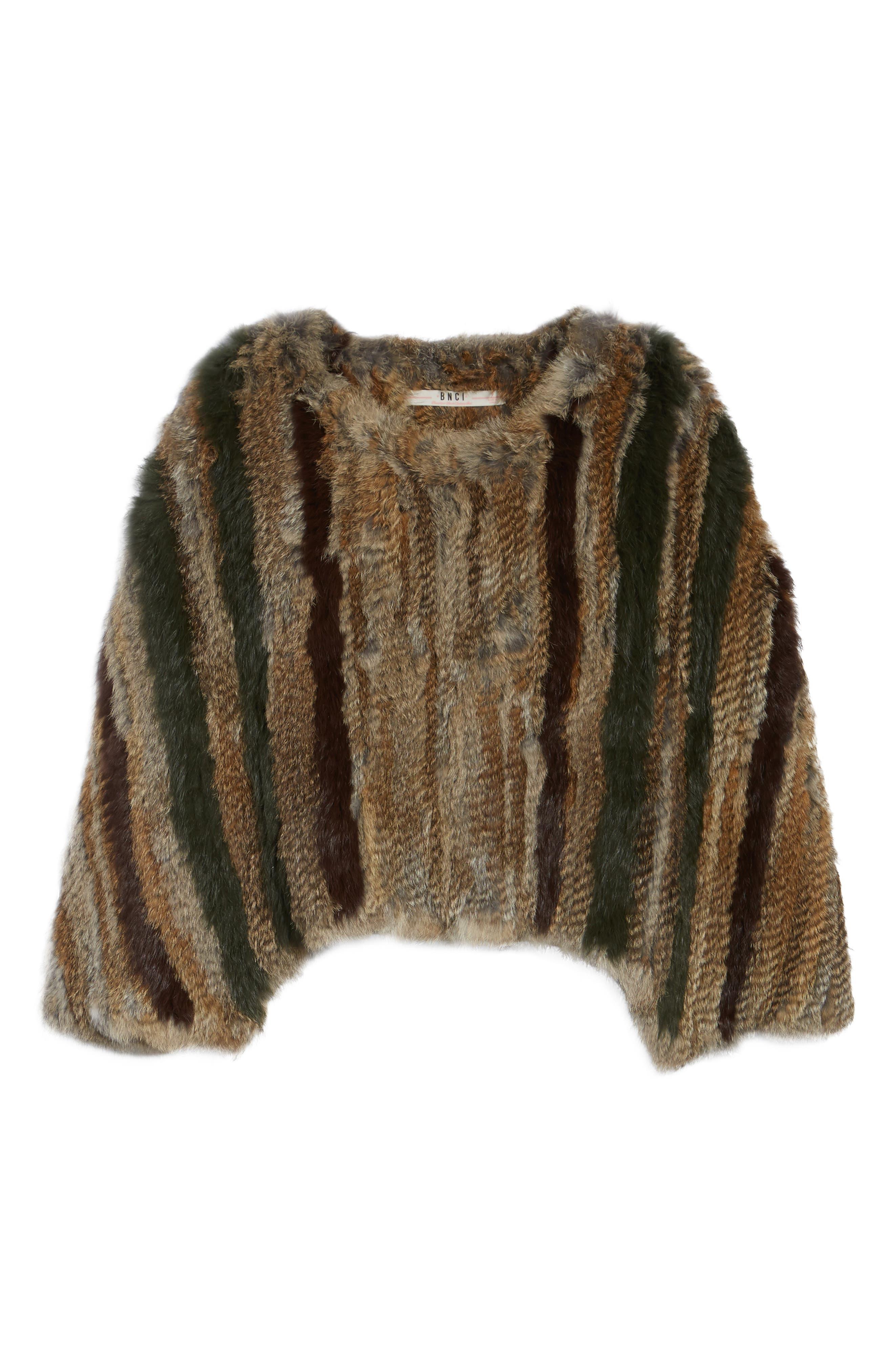 BNCI Nomad Genuine Rabbit Fur Pullover,                             Alternate thumbnail 5, color,                             208