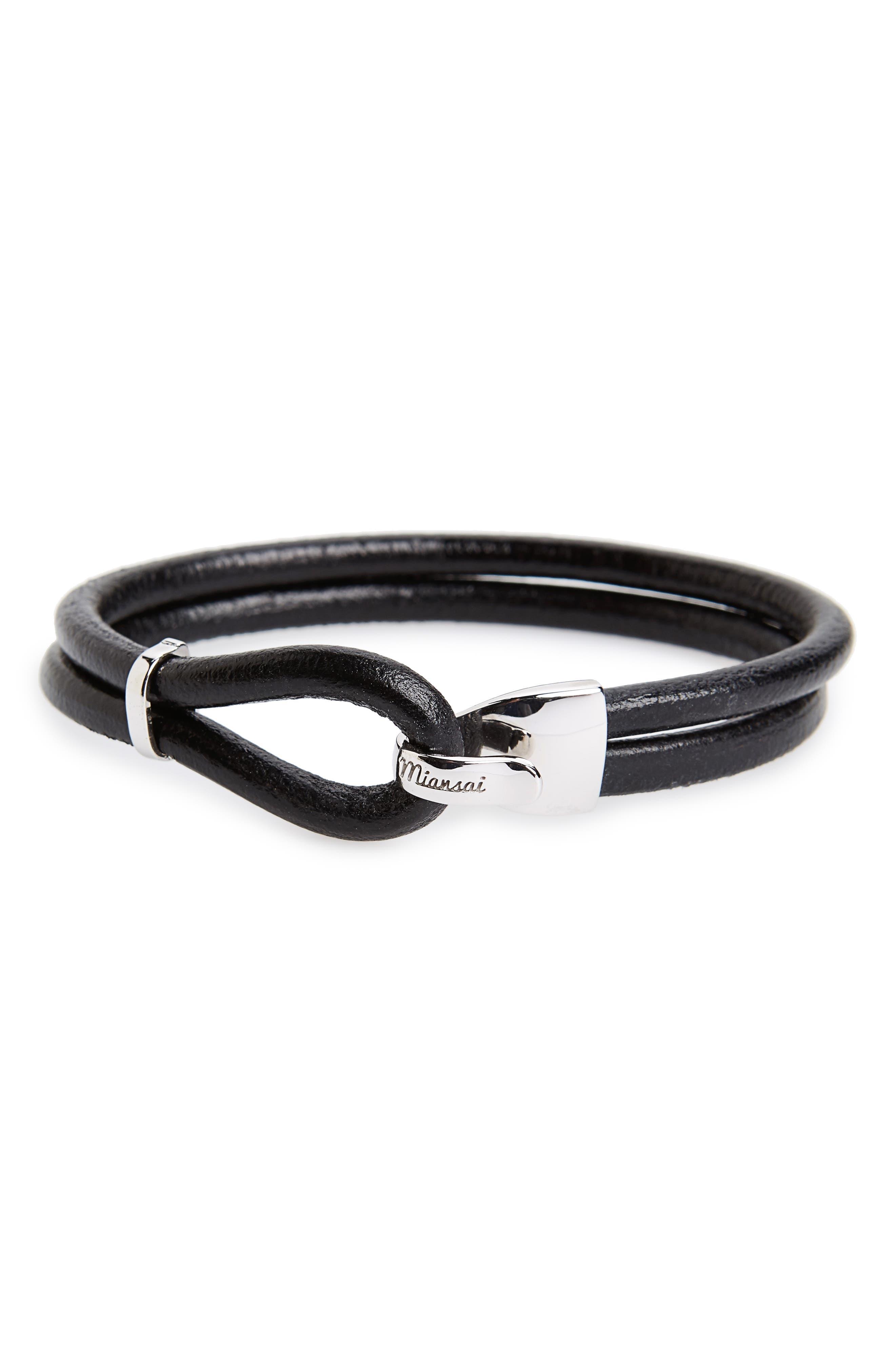 Beacon Leather Bracelet,                         Main,                         color, 012