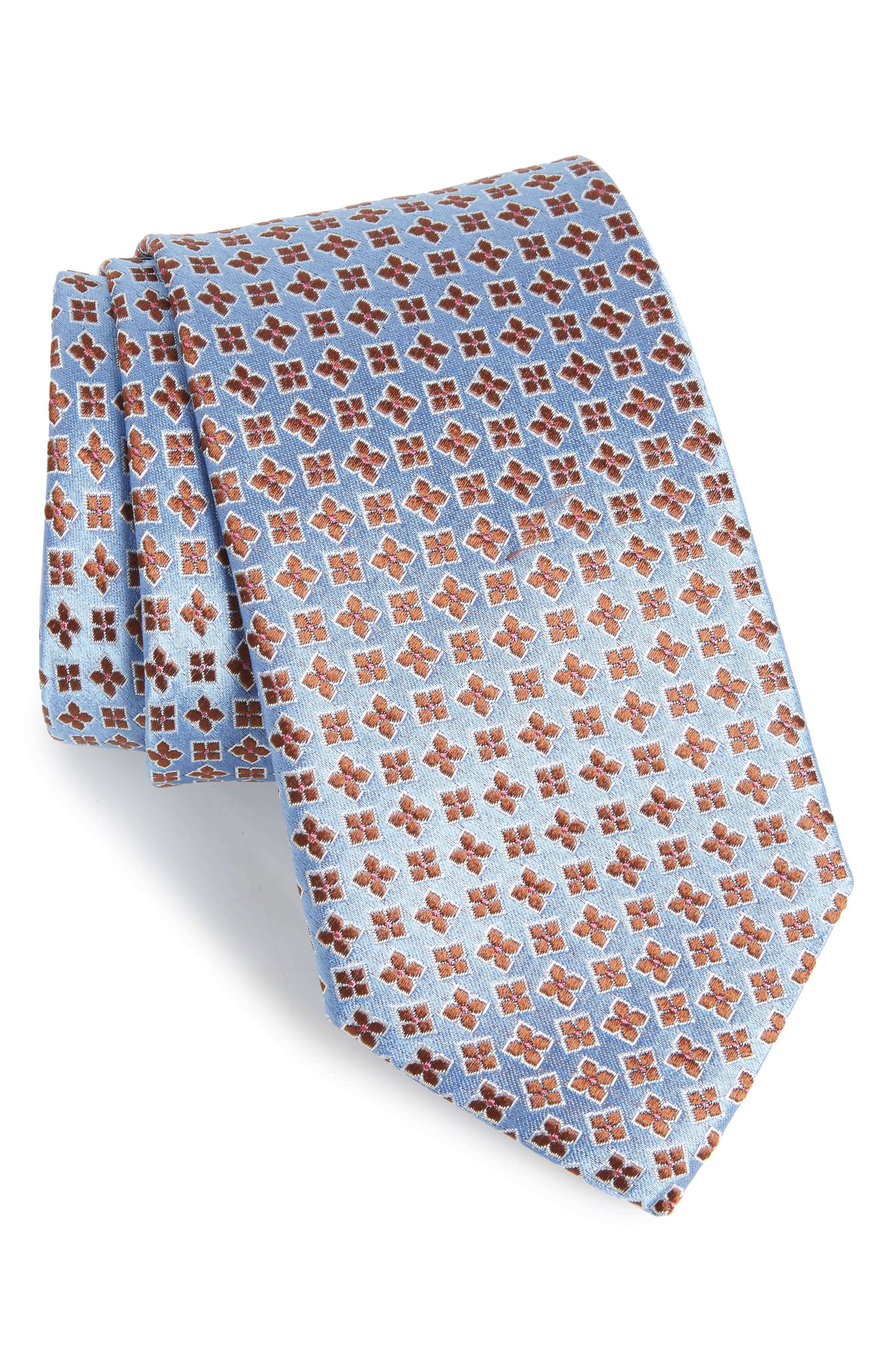Neat Floral Silk Tie,                             Main thumbnail 1, color,