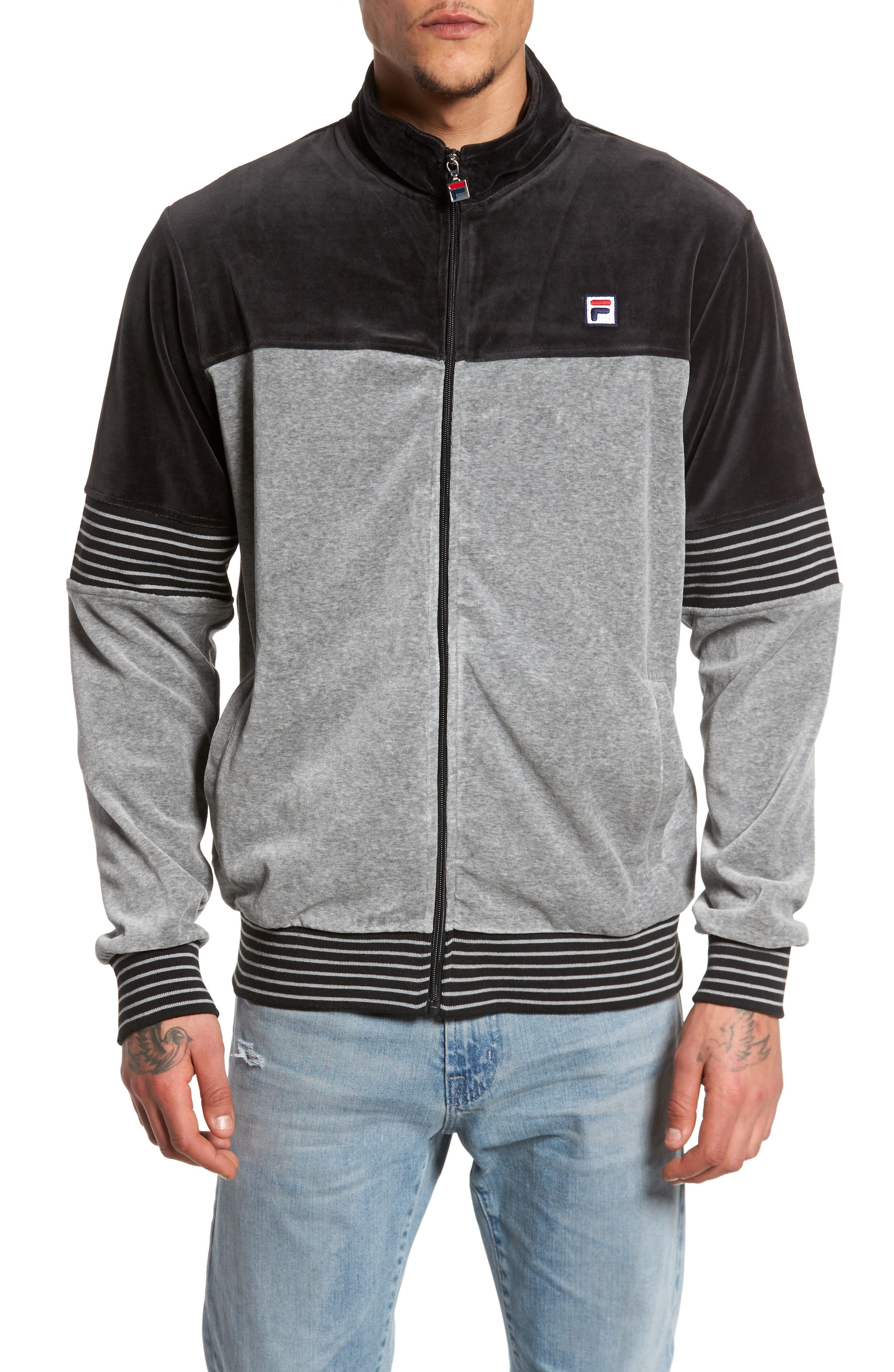 Marcus Velour Track Jacket,                         Main,                         color,