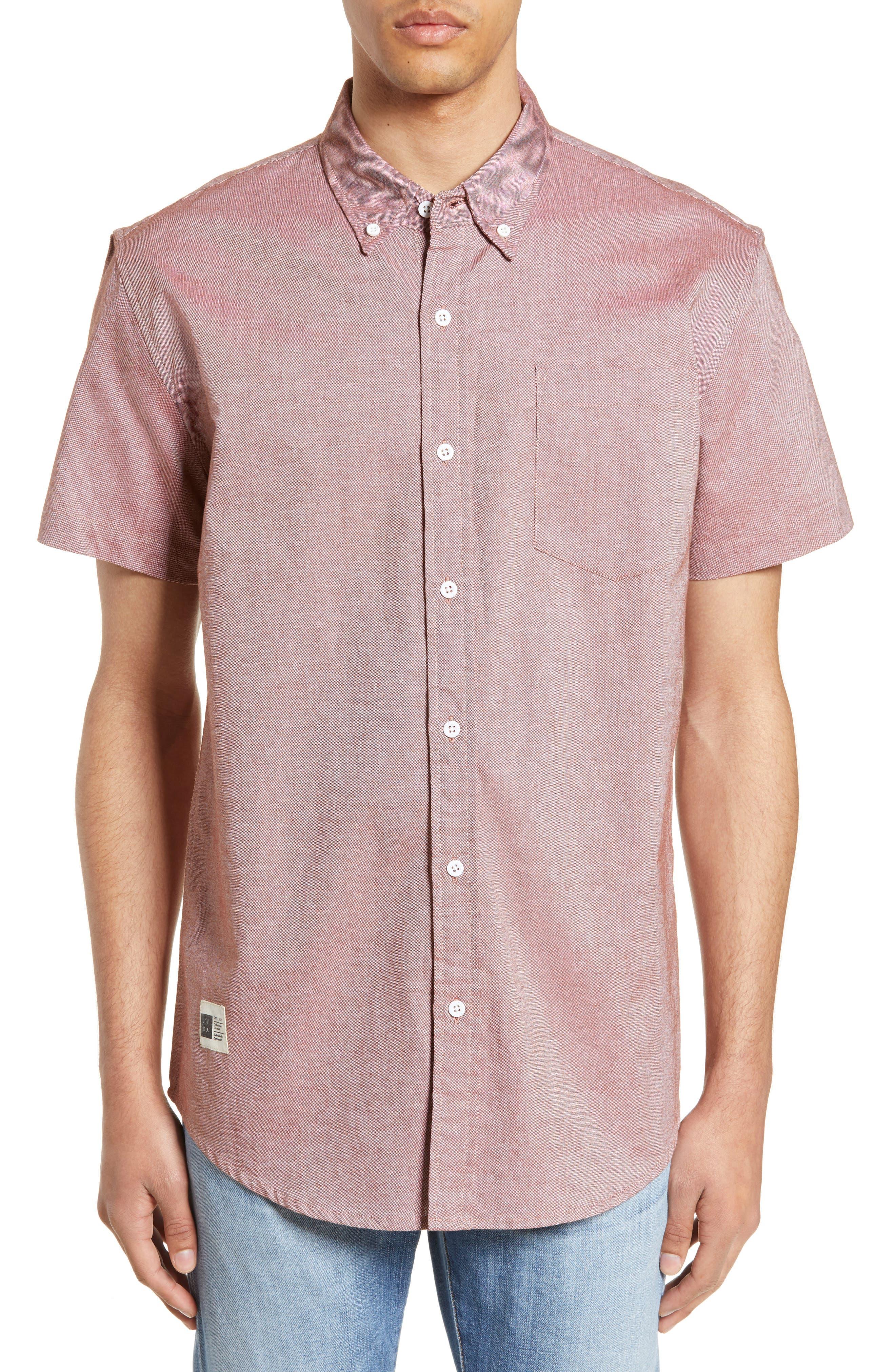 Lira Clothing Short Sleeve Cotton Sport Shirt, Red