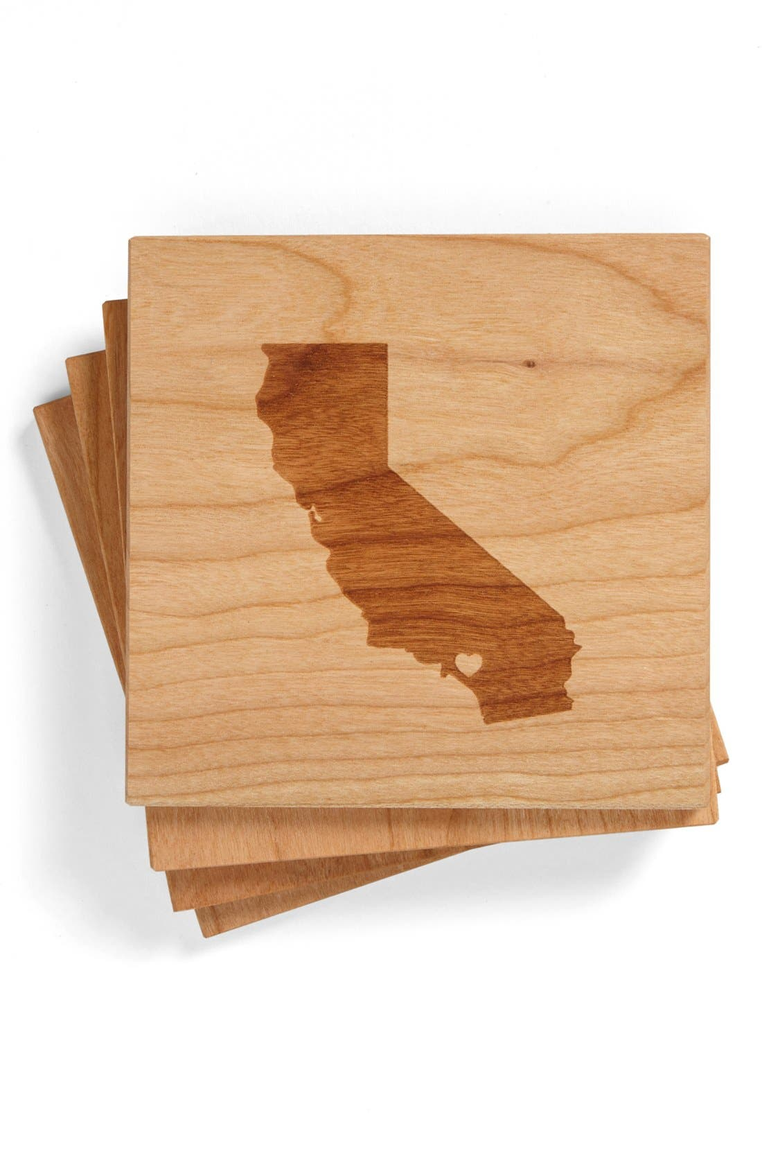 'State Silhouette' Coasters,                             Main thumbnail 5, color,