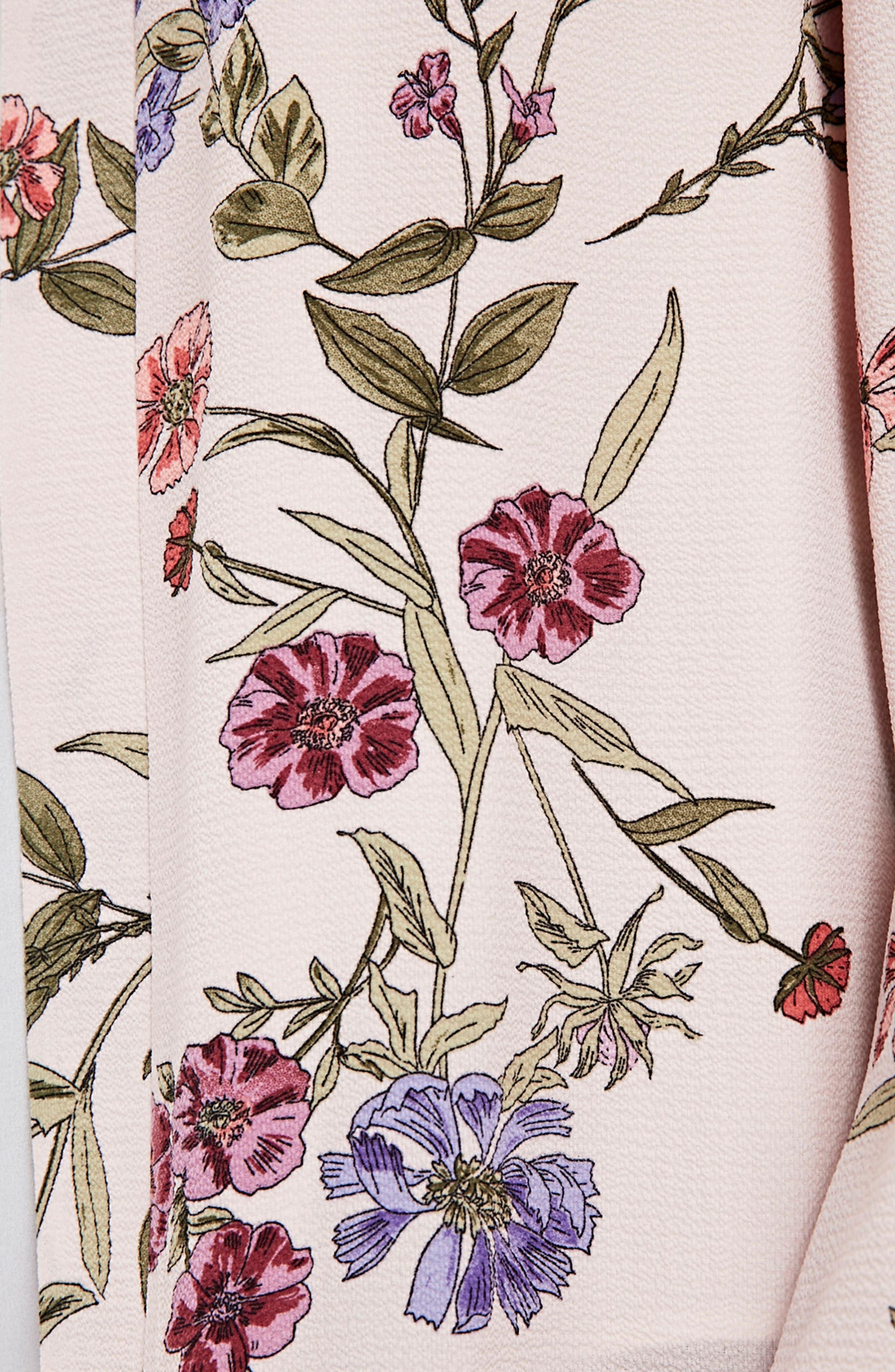 Floral Kimono Jacket,                             Alternate thumbnail 3, color,                             650