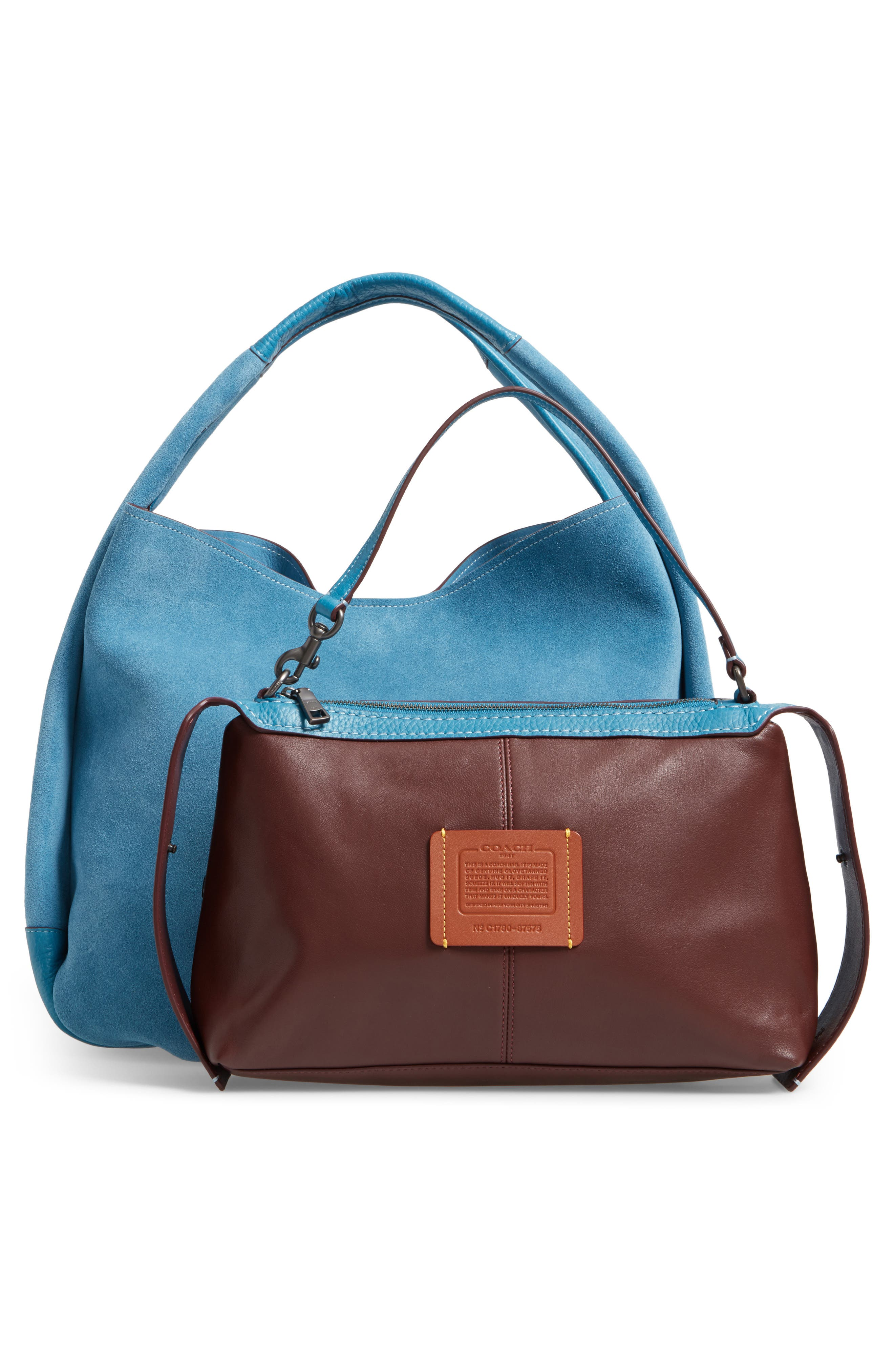 Bandit Suede Hobo & Removable Shoulder Bag,                             Alternate thumbnail 3, color,                             453