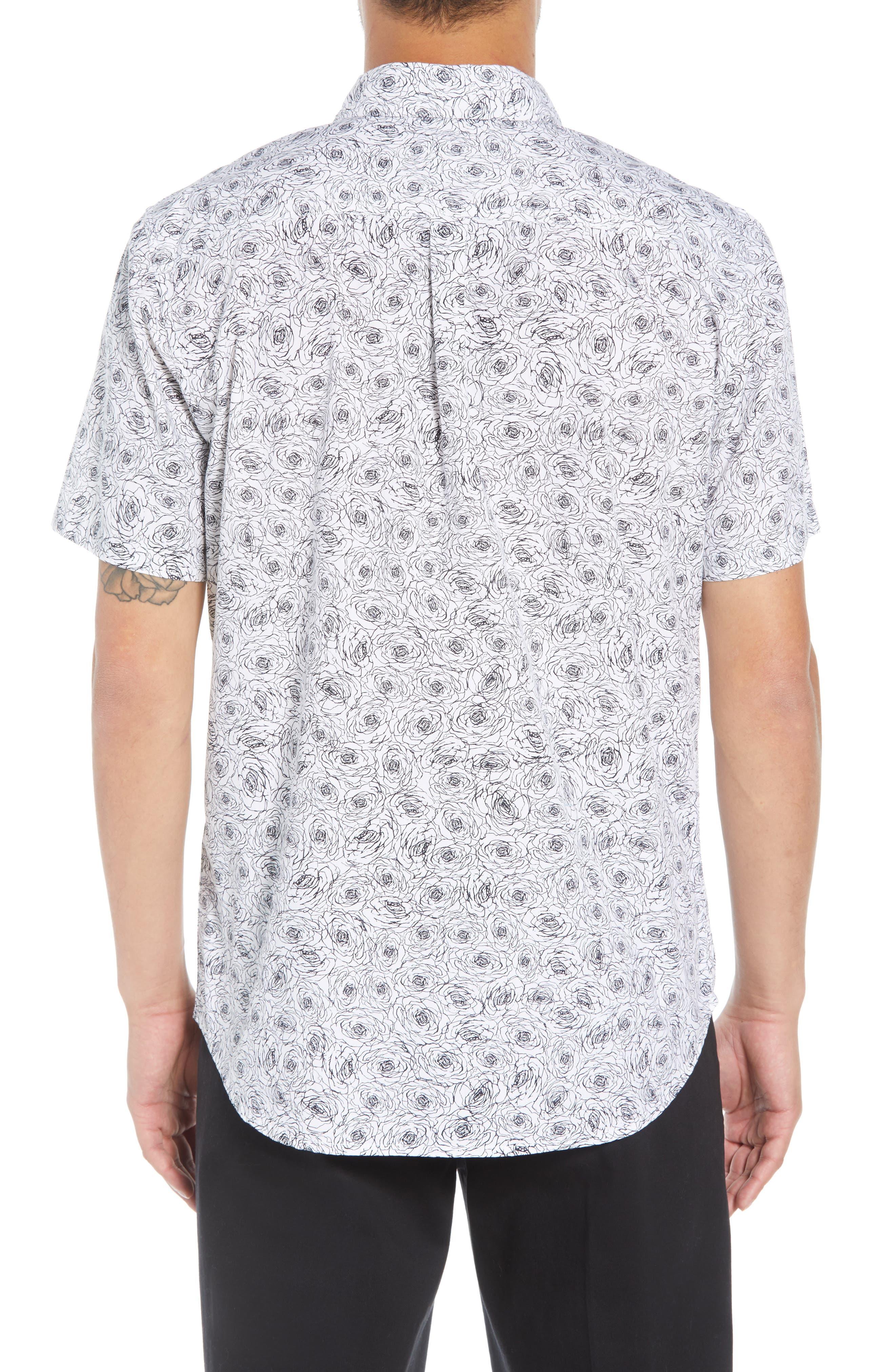 Rosie Print Woven Shirt,                             Alternate thumbnail 3, color,                             WHITE MULTI