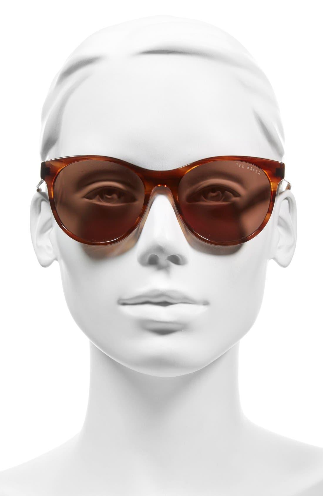 54mm Retro Sunglasses,                             Alternate thumbnail 8, color,