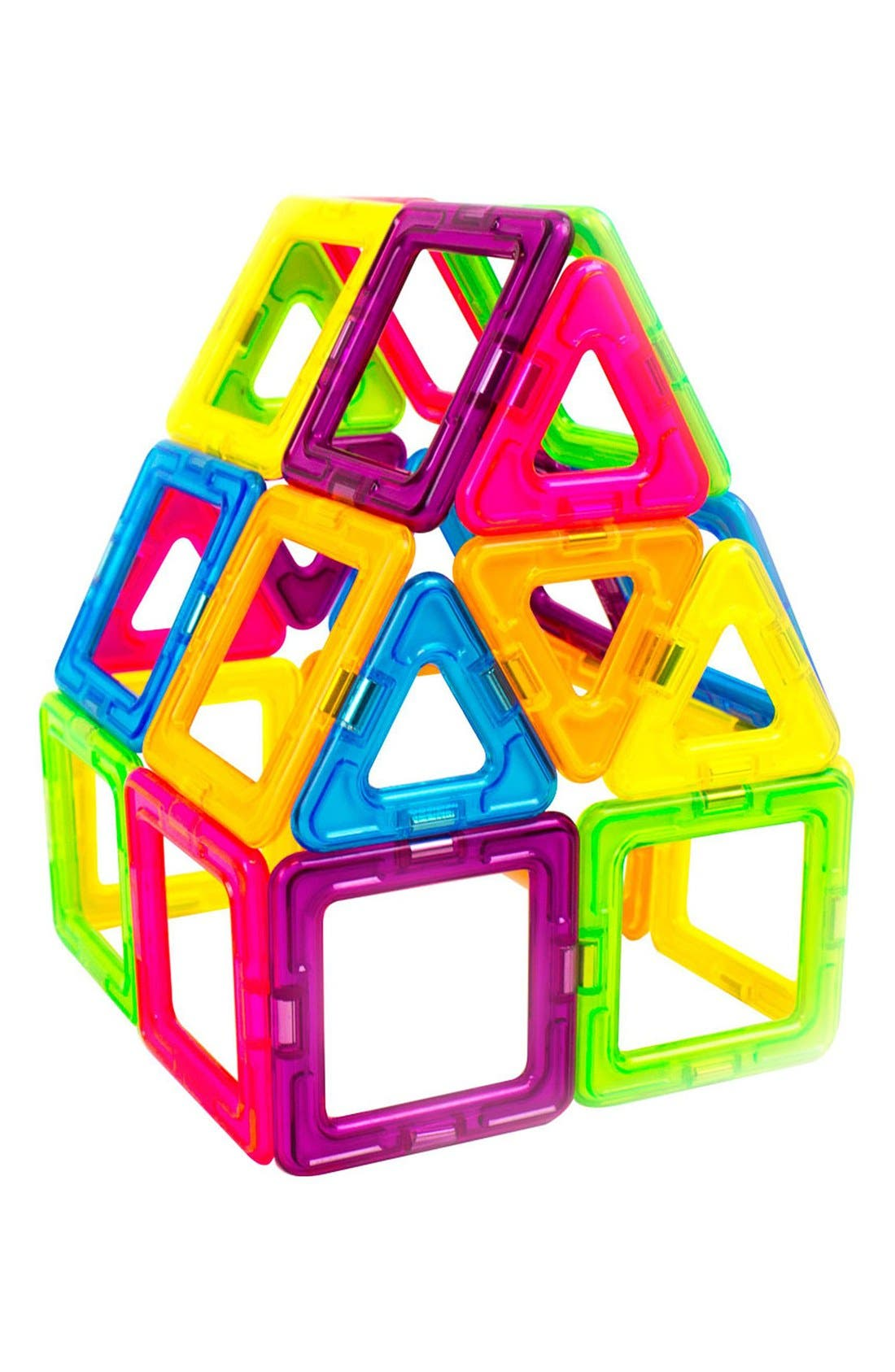 'Creator' Neon Magnetic 3D Construction Set,                             Alternate thumbnail 4, color,                             NEON RAINBOW