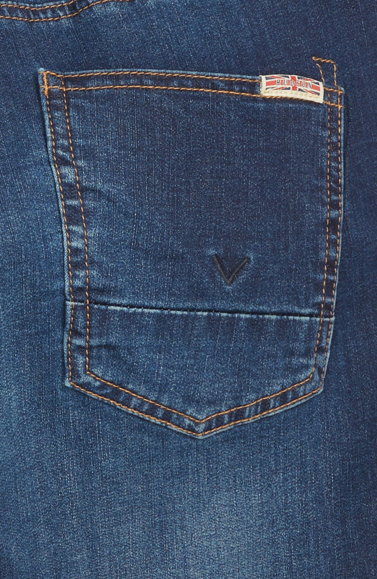 Knit Cutoff Denim Shorts,                             Alternate thumbnail 3, color,                             481