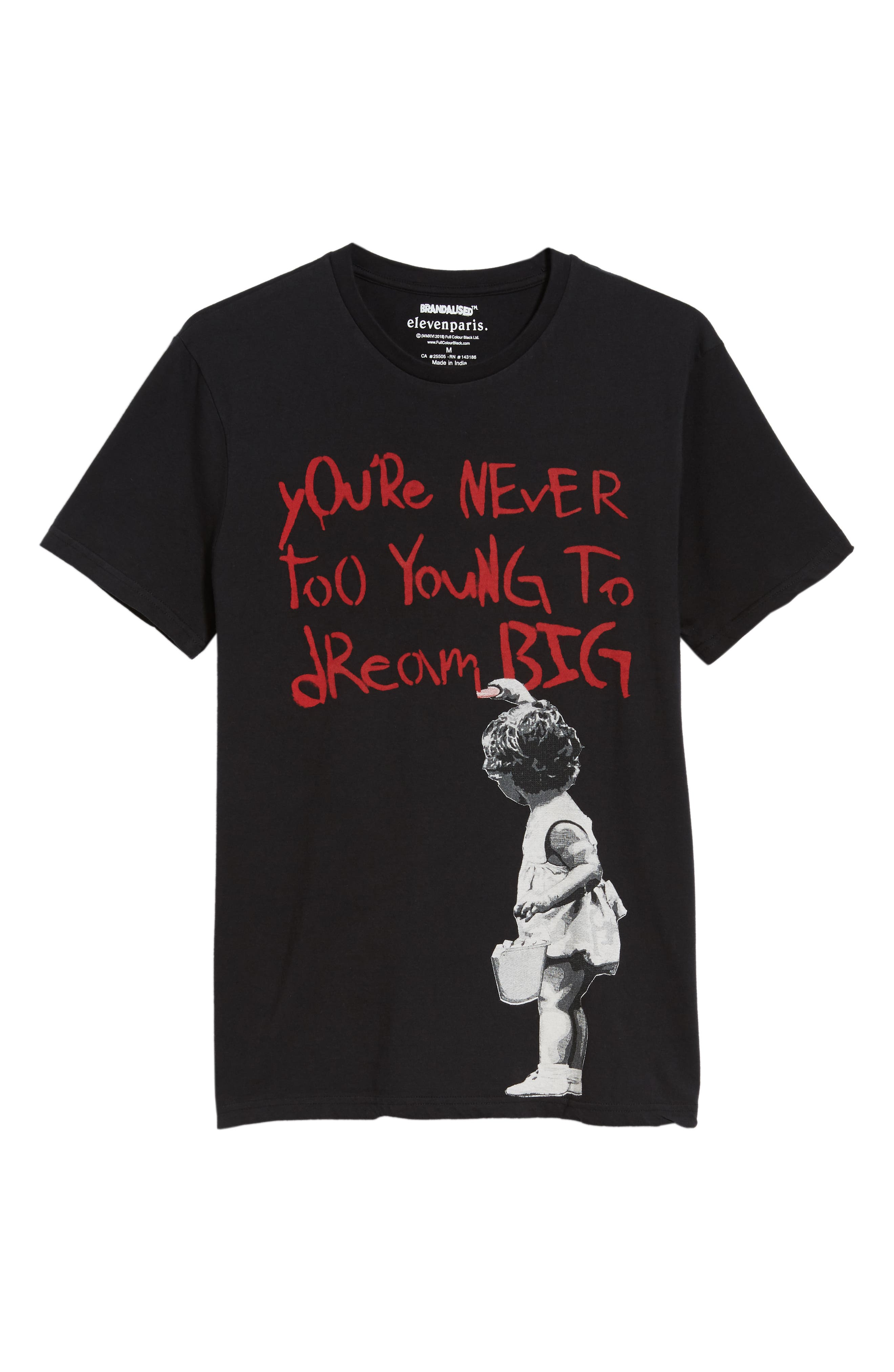 Dream Big Graphic T-Shirt,                             Alternate thumbnail 6, color,                             BLACK