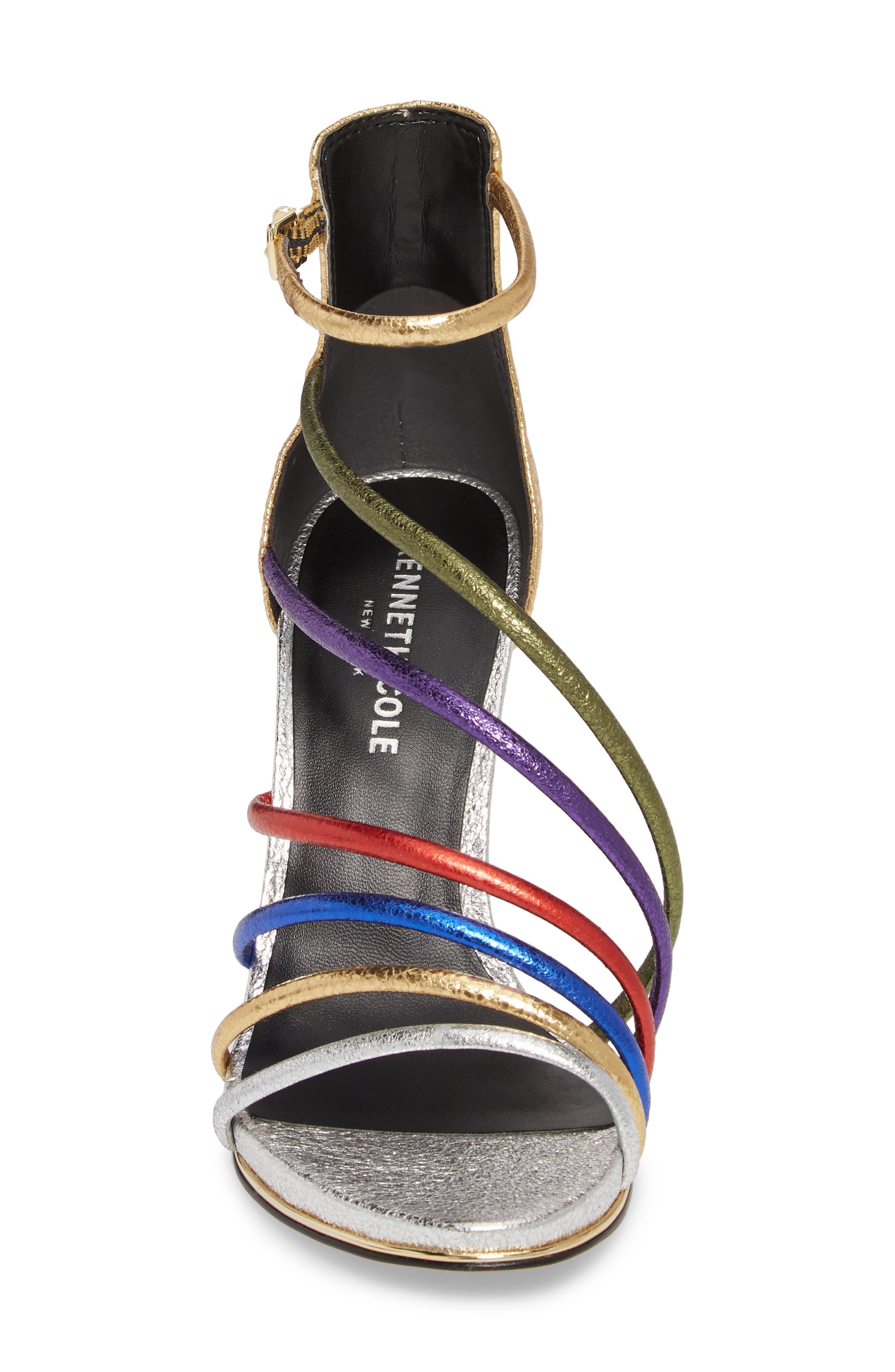 Barletta Asymmetrical Strappy Sandal,                             Alternate thumbnail 4, color,                             MULTI LEATHER