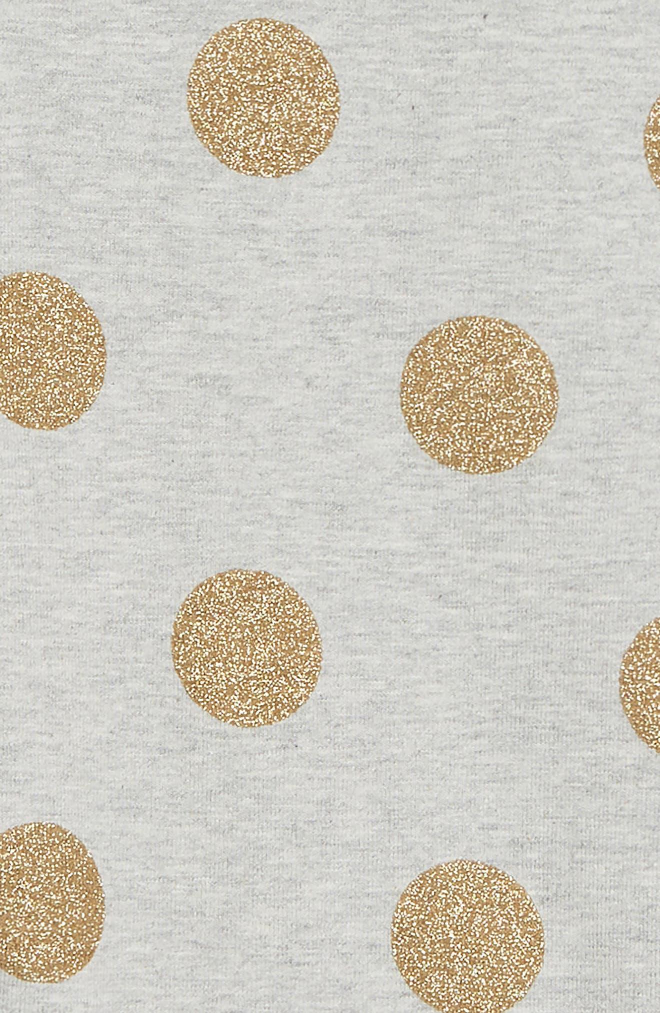 Detail Leggings,                             Alternate thumbnail 2, color,                             GREY MARLE/ GOLD FOIL SPOT