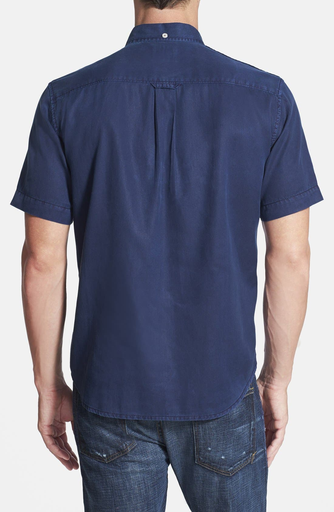 'New Twilly' Island Modern Fit Short Sleeve Twill Shirt,                             Alternate thumbnail 24, color,