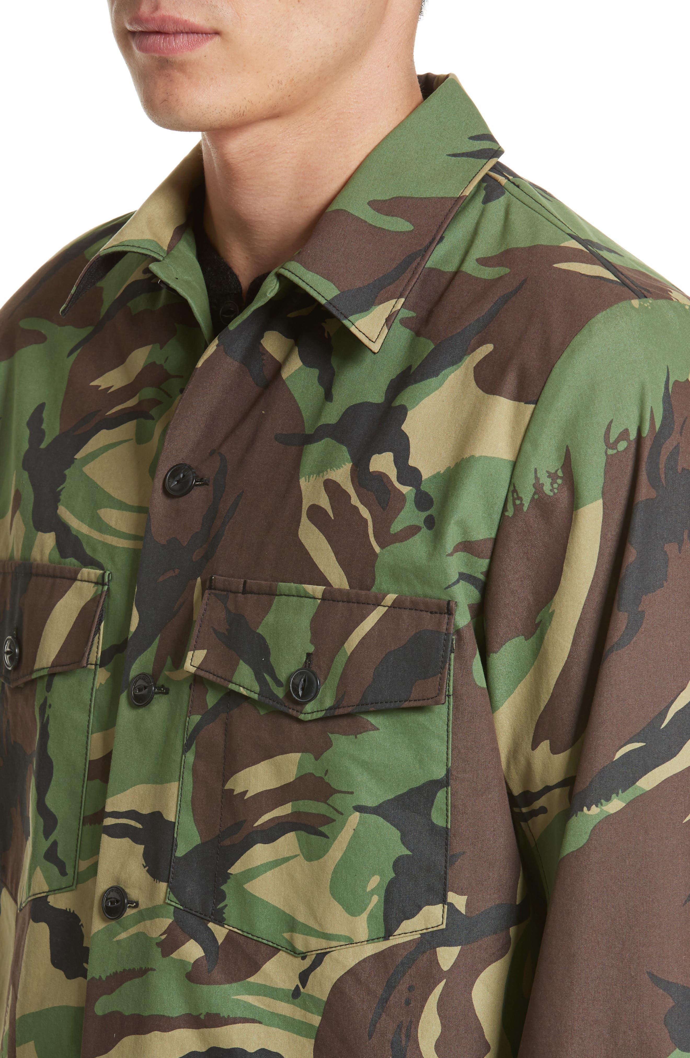 Heath Camo Shirt Jacket,                             Alternate thumbnail 4, color,