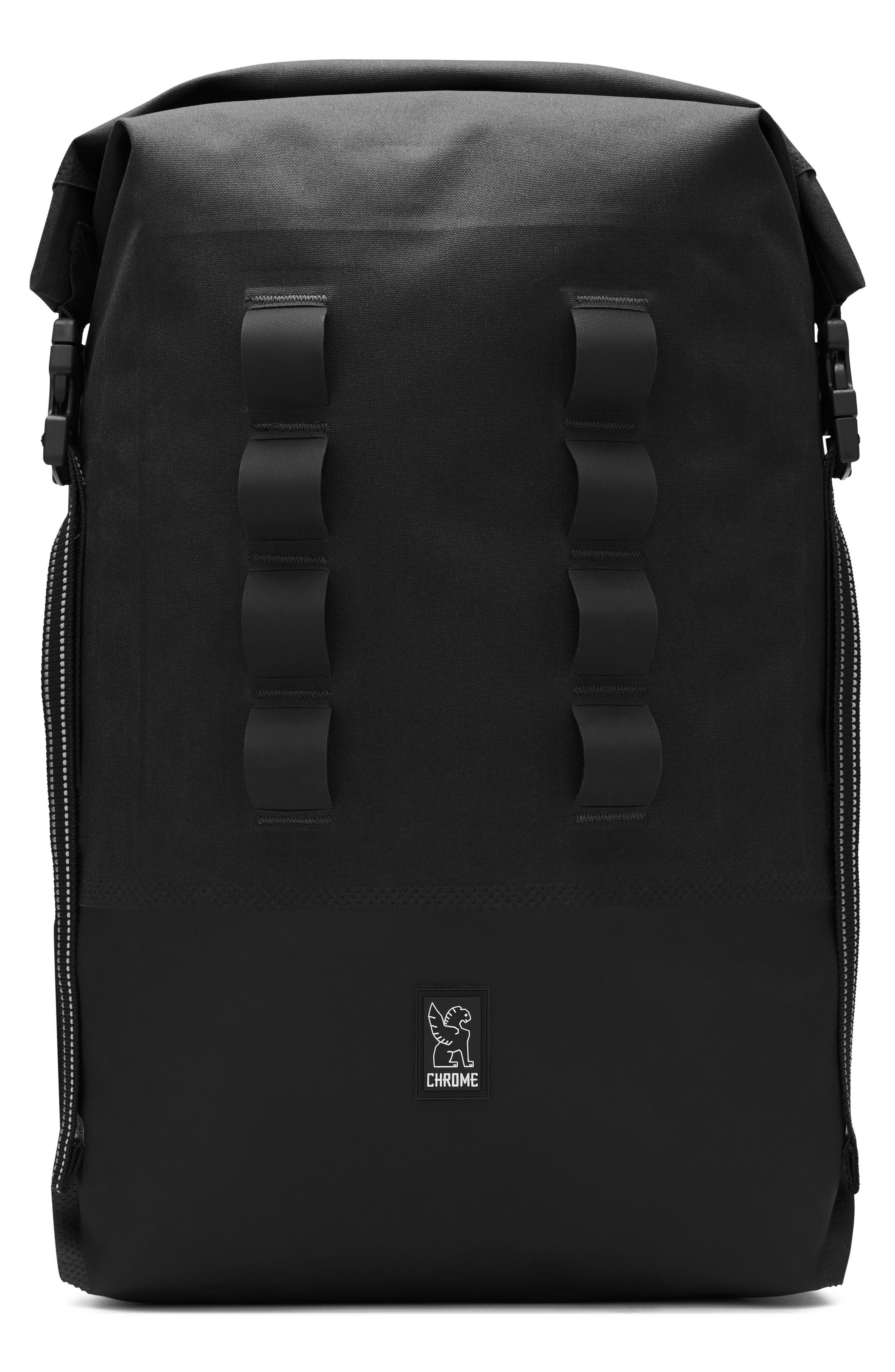 Urban Ex Rolltop Waterproof Backpack,                             Main thumbnail 1, color,                             BLACK/ BLACK