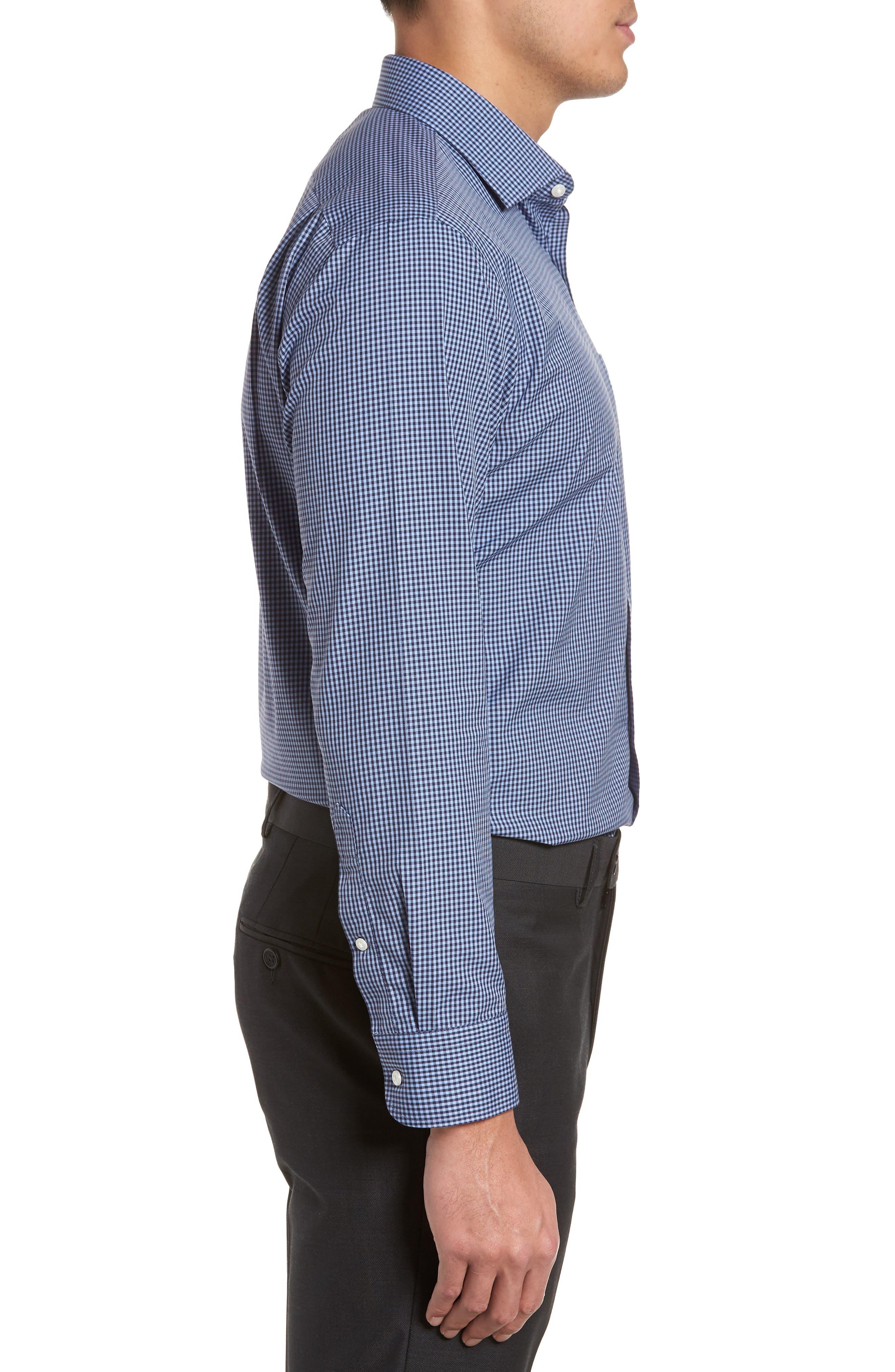 Smartcare<sup>™</sup> Trim Fit Check Dress Shirt,                             Alternate thumbnail 14, color,