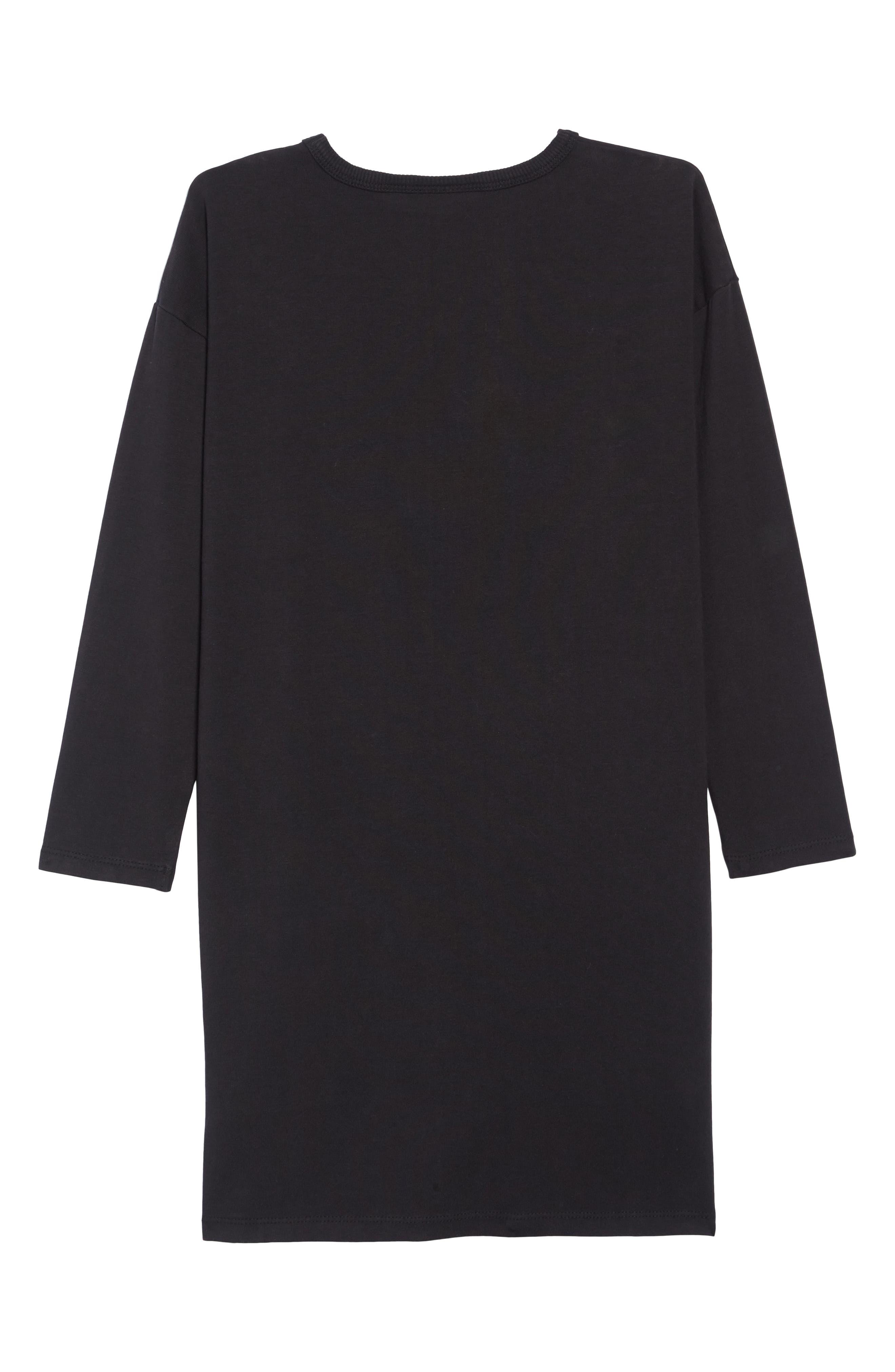 Your Love T-Shirt Dress,                             Alternate thumbnail 2, color,                             BLACK