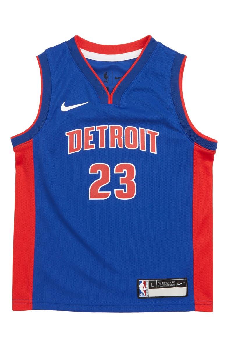 new arrival bf128 6380b Nike Detroit Pistons Blake Griffin Basketball Jersey (Little ...