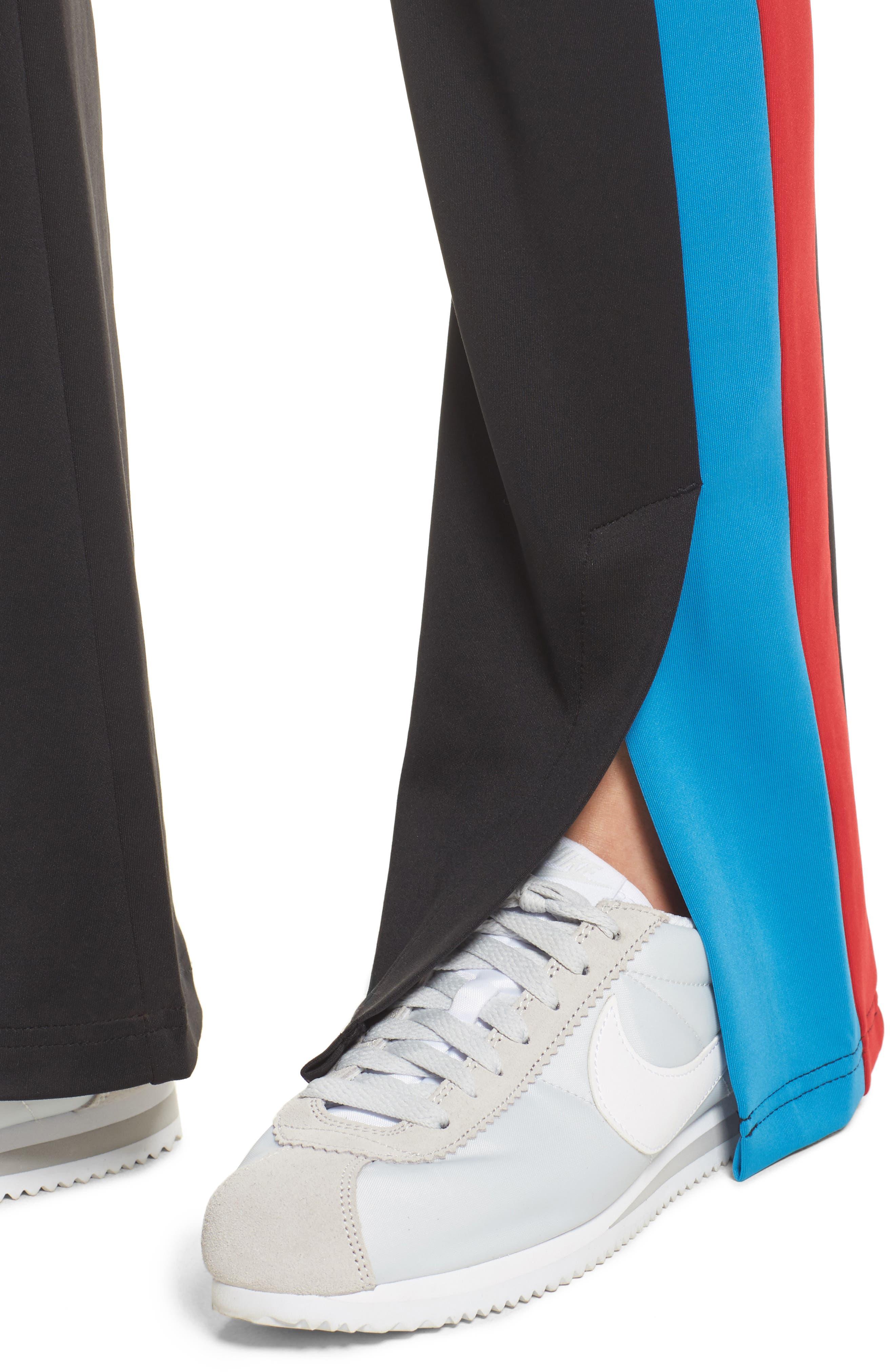 Stripe Track Pants,                             Alternate thumbnail 4, color,                             001