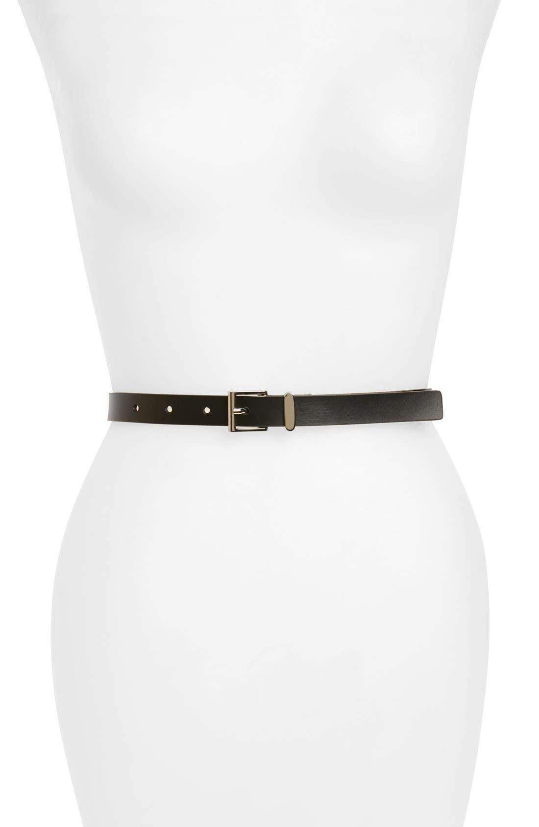 HALOGEN<SUP>®</SUP> Square Keeper Belt, Main, color, BLACK