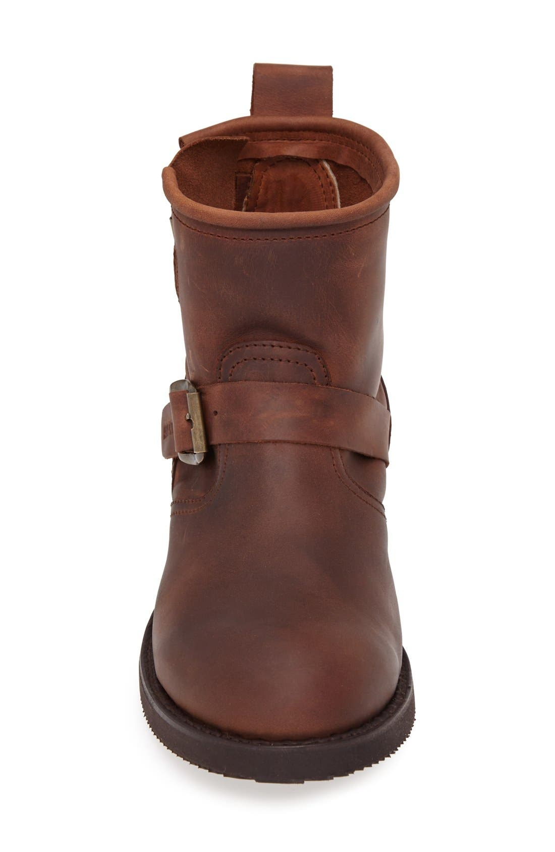 'Engineer' Harness Boot,                             Alternate thumbnail 3, color,                             BROWN