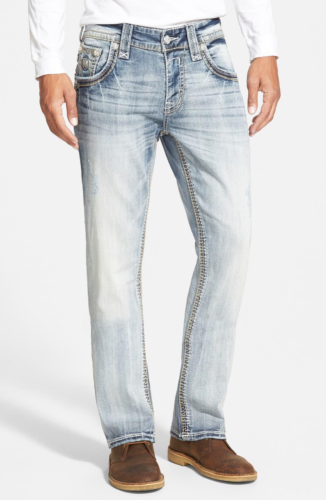 Straight Leg Jeans,                             Main thumbnail 1, color,                             431
