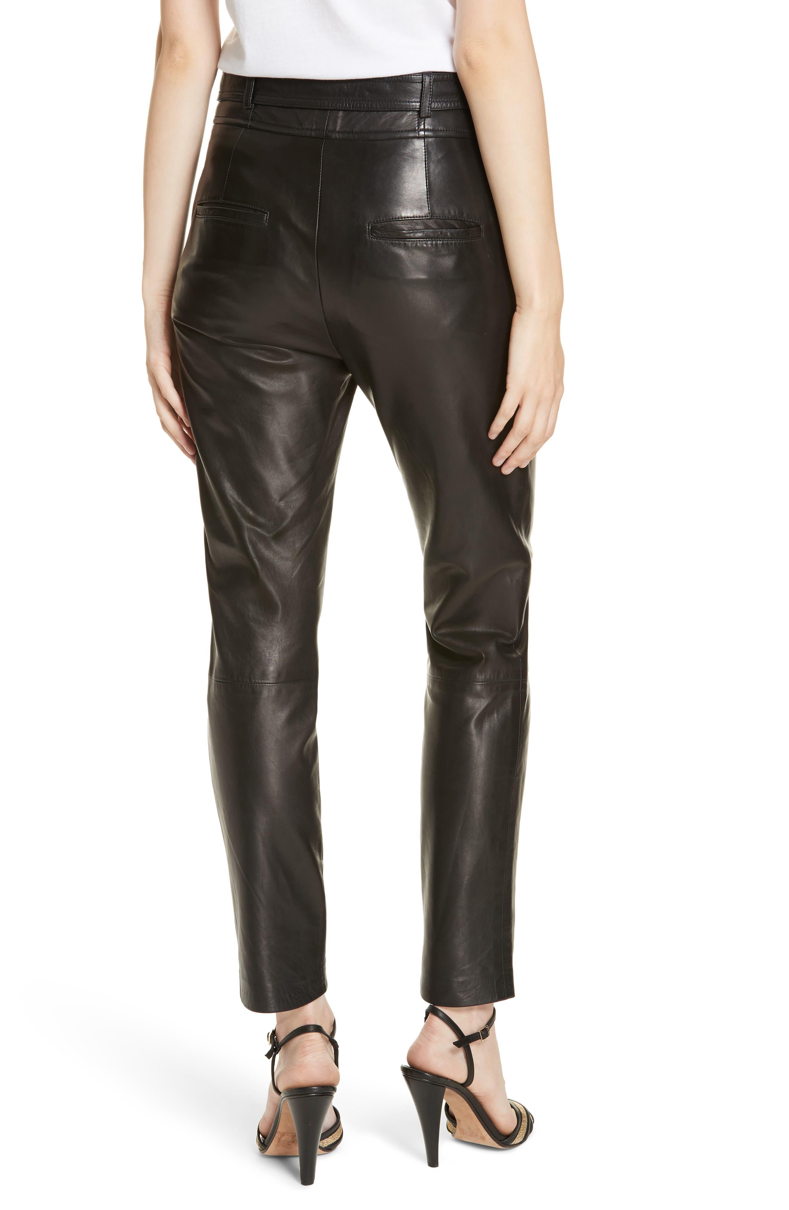 Faxon Leather Pants,                             Alternate thumbnail 2, color,                             BLACK