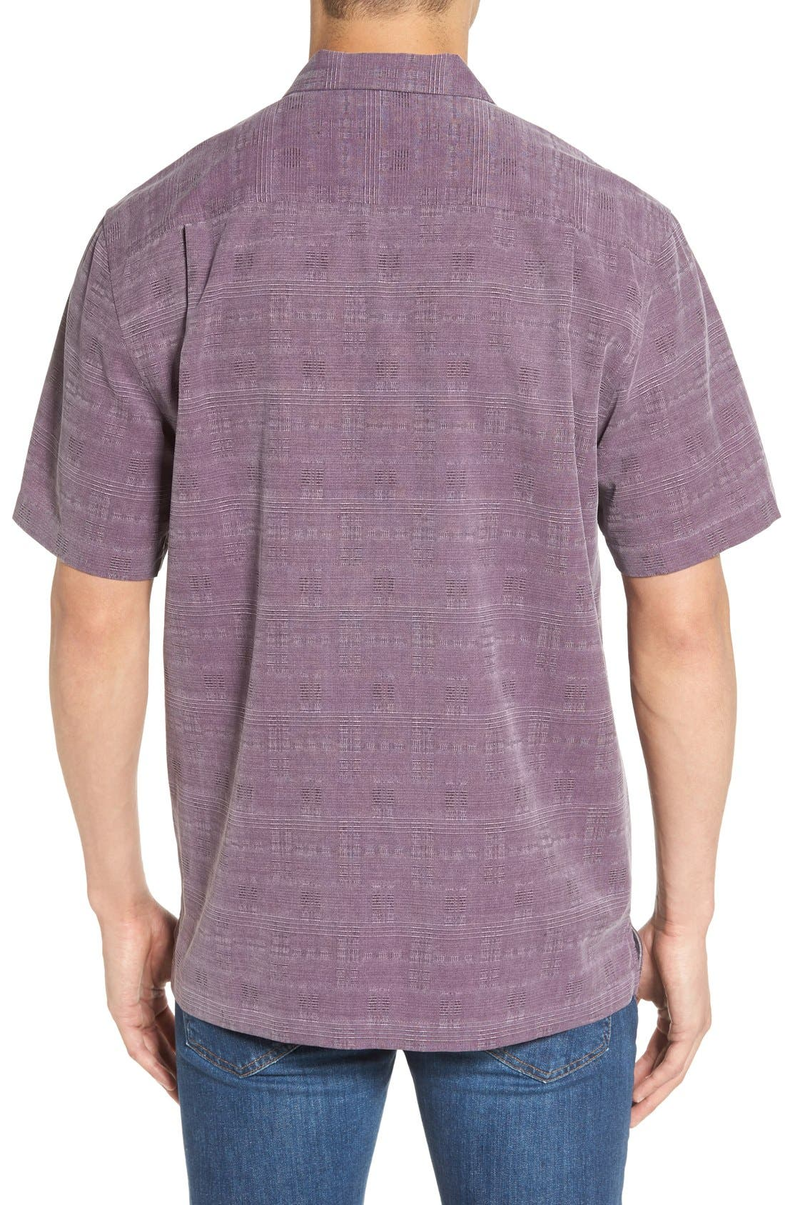 'Geo-Rific Jacquard' Original Fit Silk Camp Shirt,                             Alternate thumbnail 16, color,