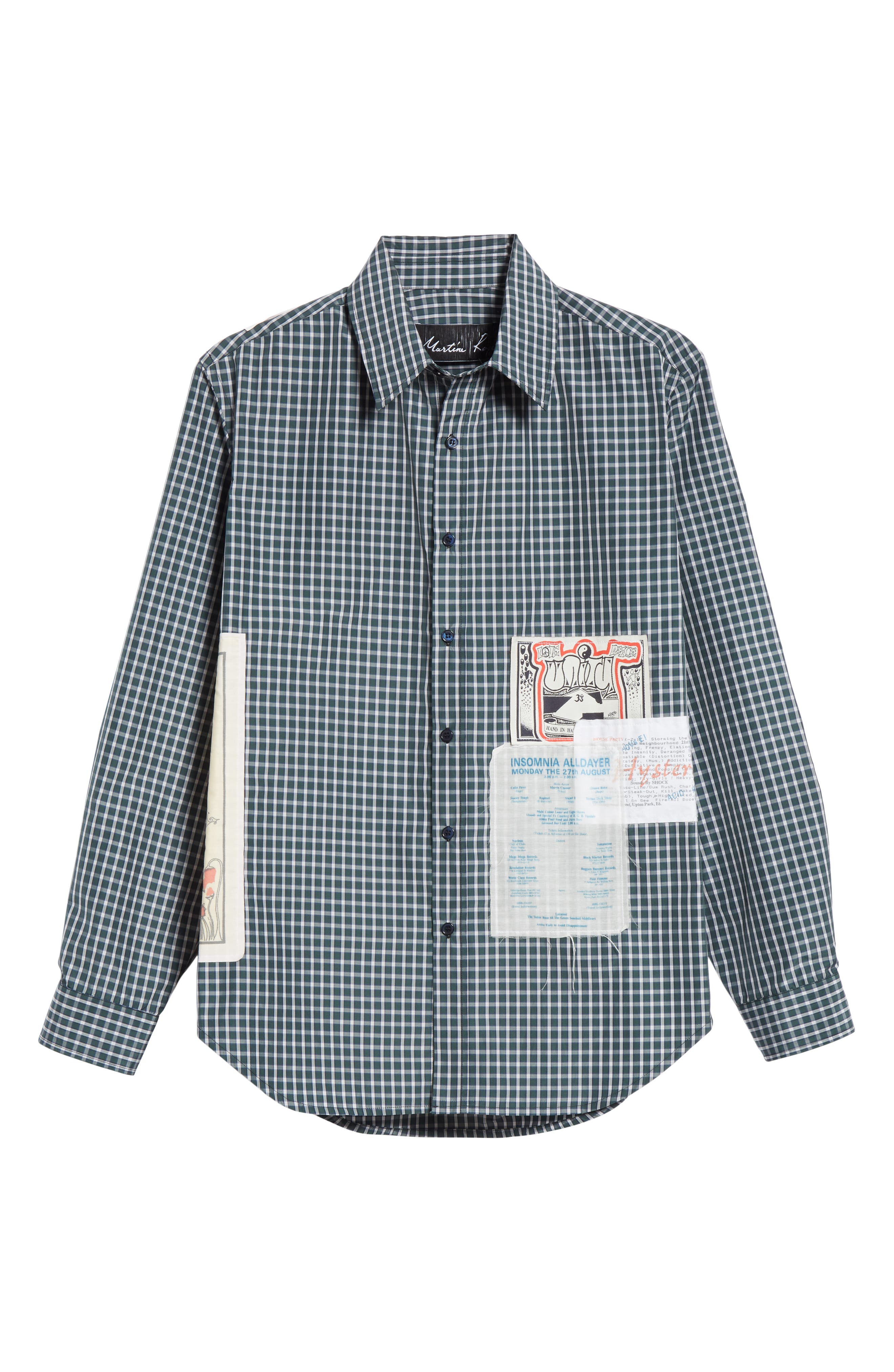 Flyer Shirt,                             Alternate thumbnail 6, color,                             GREEN CHECK