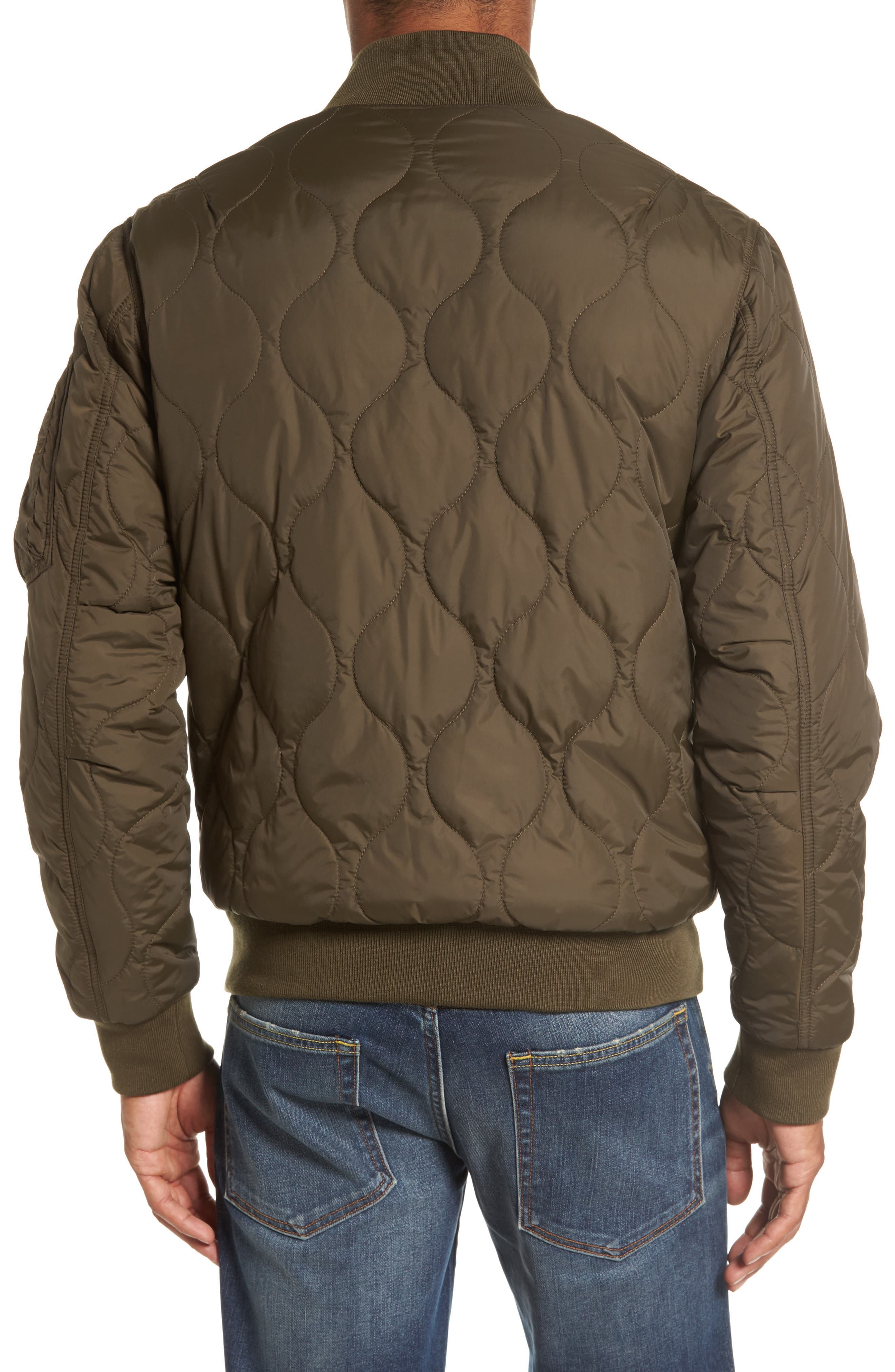 Regular Fit Quilted Bomber Jacket,                             Alternate thumbnail 2, color,