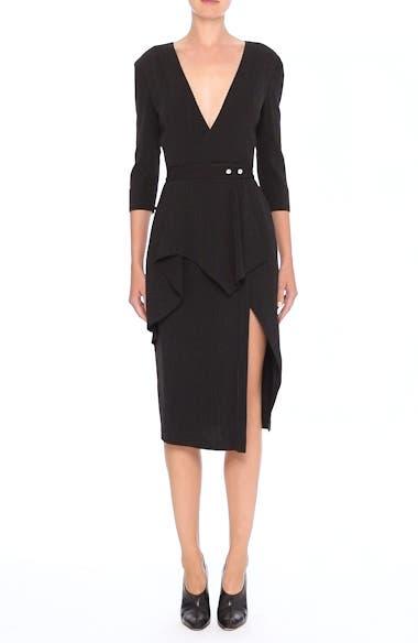 Pinstripe Jersey Sheath Dress, video thumbnail