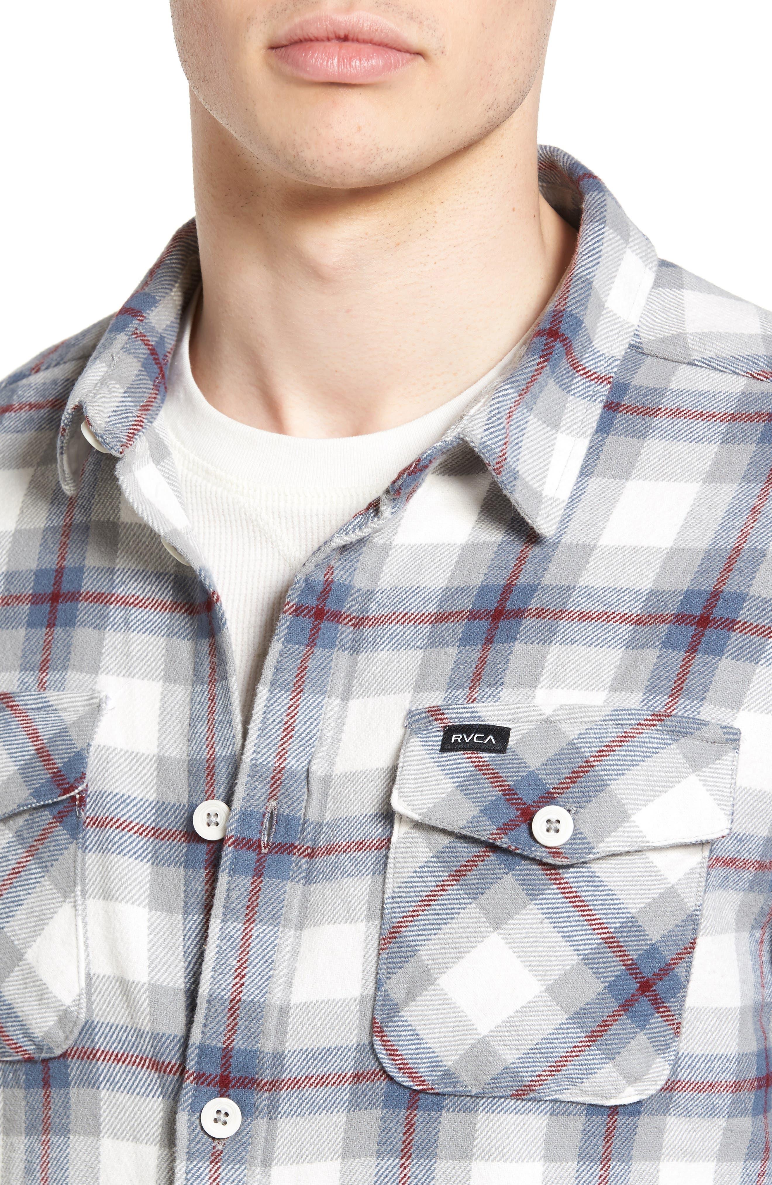 'That'll Work' Trim Fit Plaid Flannel Shirt,                             Alternate thumbnail 20, color,