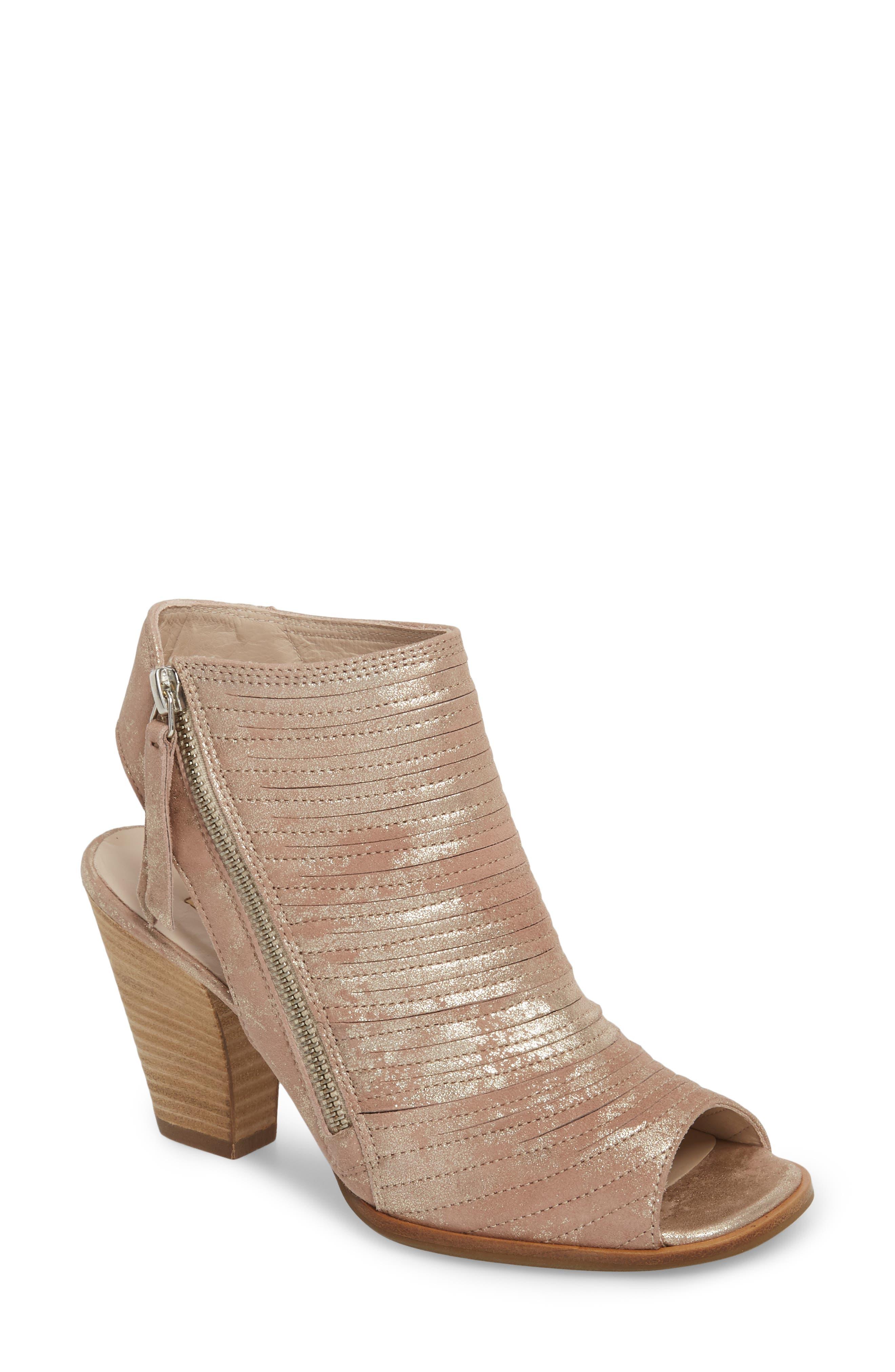 'Cayanne' Leather Peep Toe Sandal,                             Main thumbnail 3, color,
