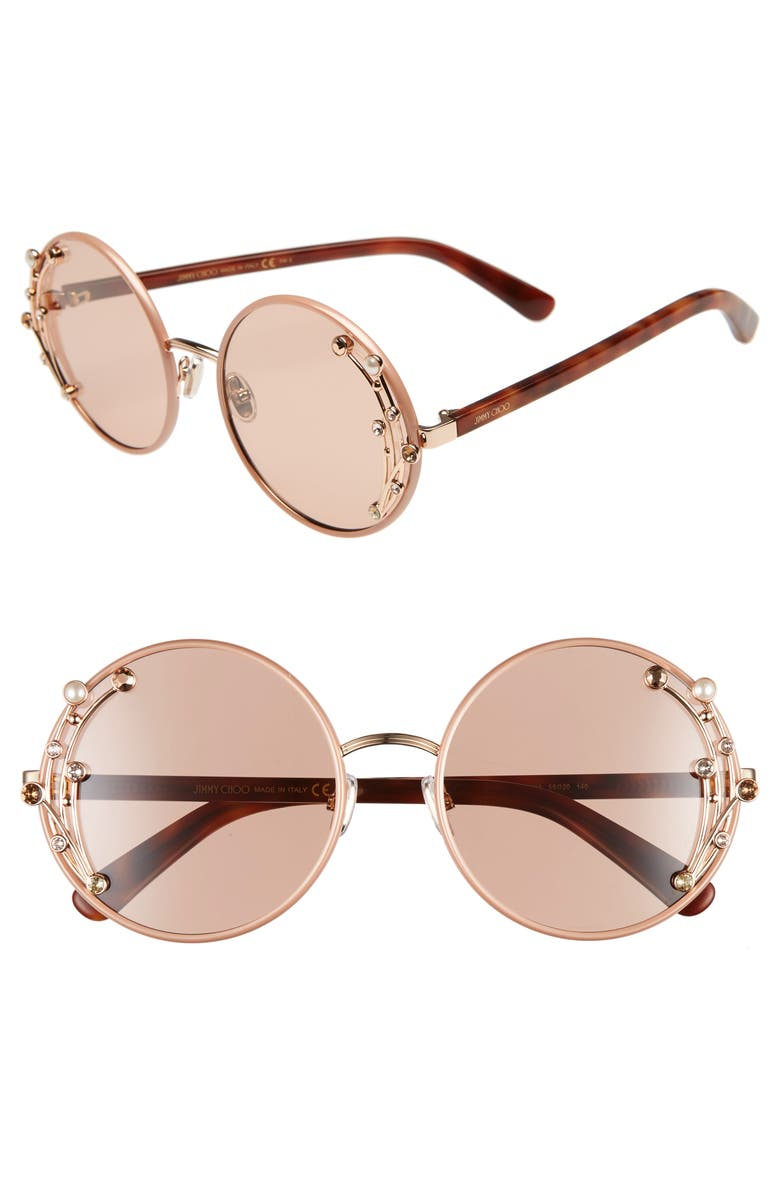 61eb4e772a5 Jimmy Choo Gema 59mm Round Sunglasses