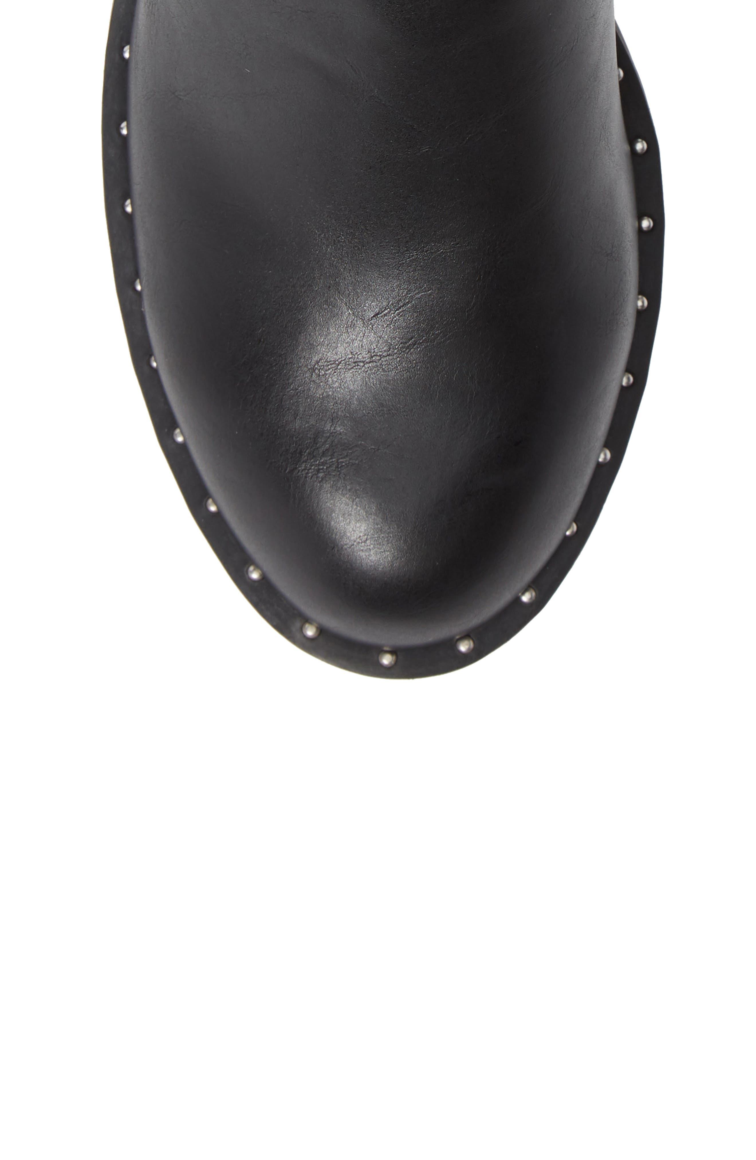Tupper Moto Boot,                             Alternate thumbnail 5, color,                             BLACK SYNTHETIC