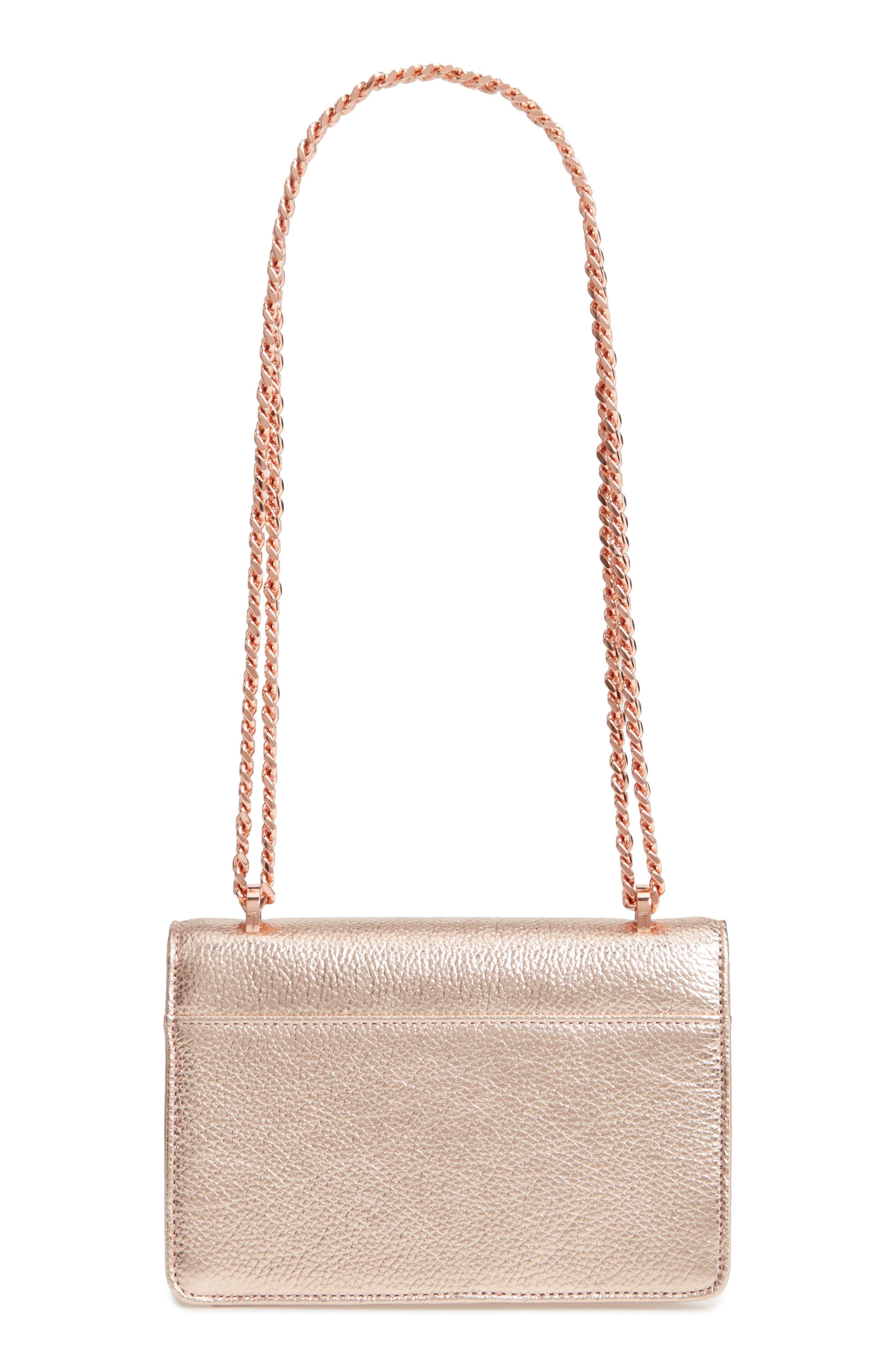 Micro Leather Crossbody Bag,                             Alternate thumbnail 3, color,                             712