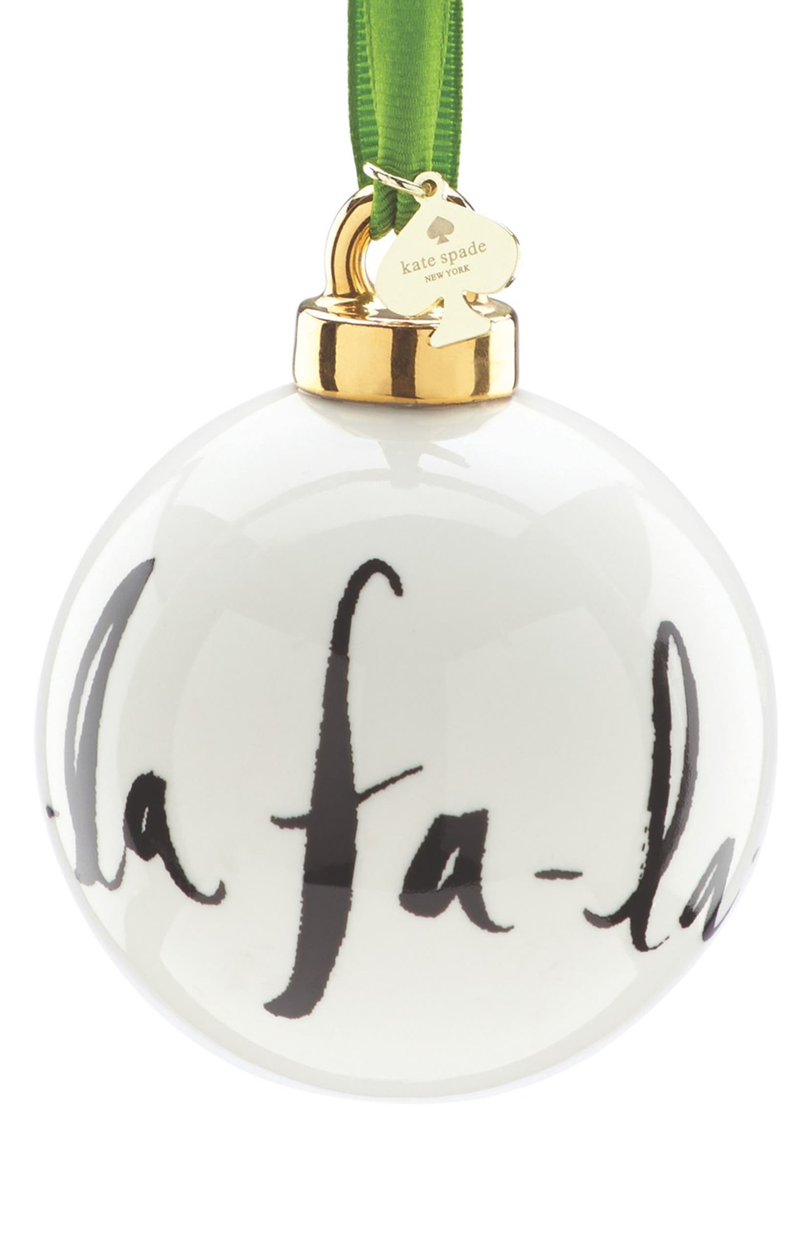 kate spade new york \'fa-la-la\' globe ornament | Nordstrom