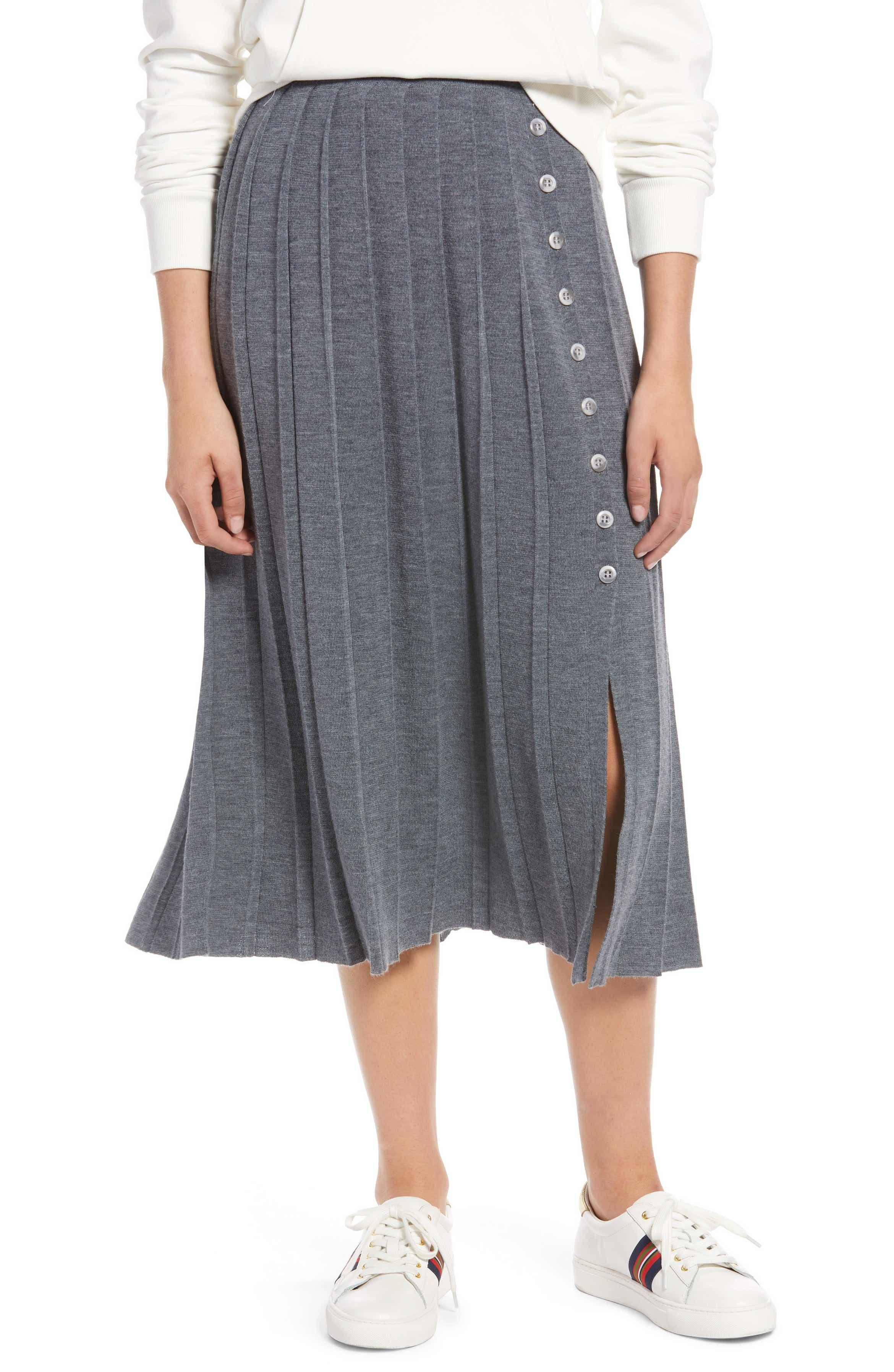 Petite pleated sweater skirt