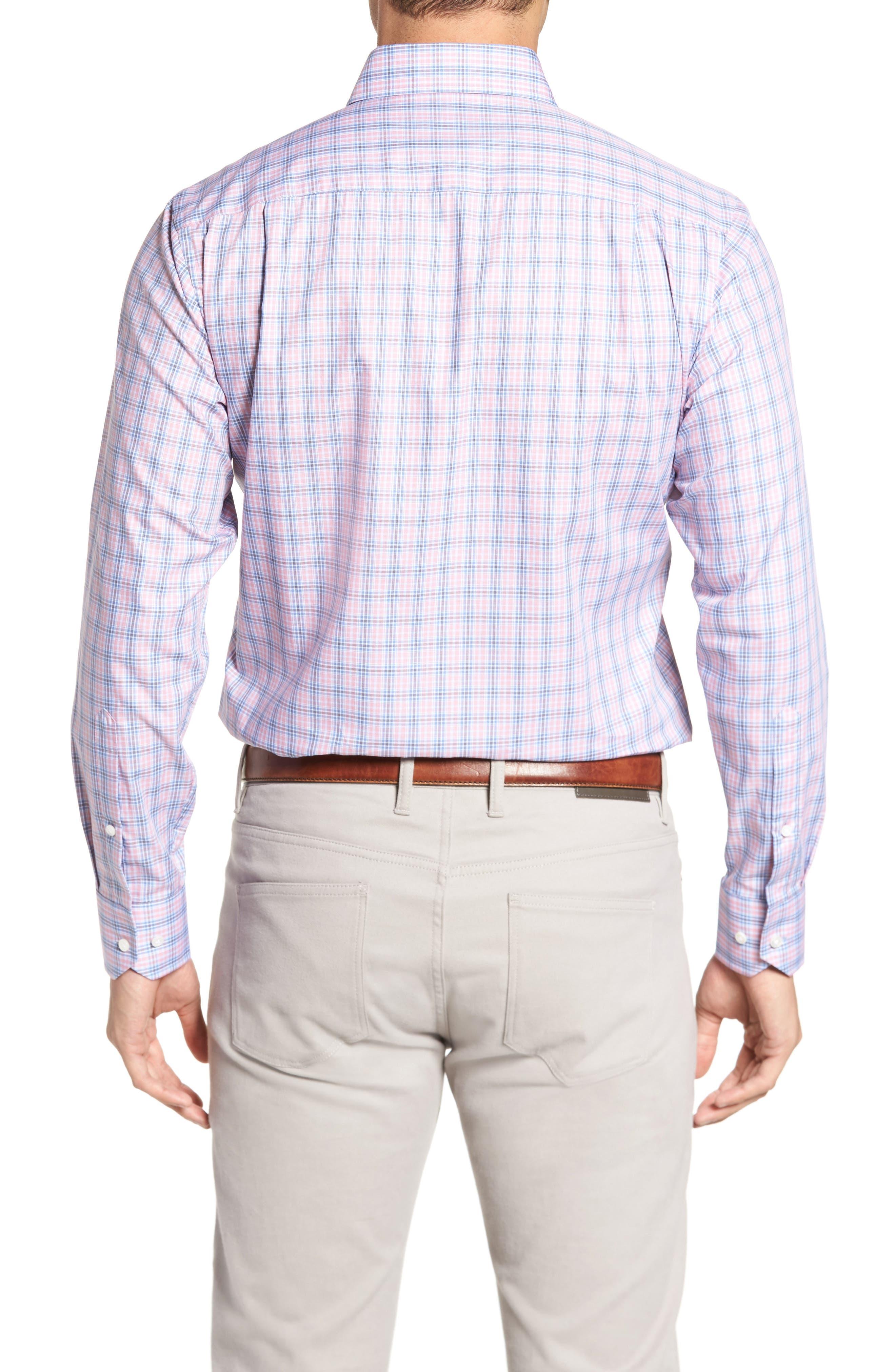 Peter Millar Desert Check Regular Fit Sport Shirt,                             Alternate thumbnail 2, color,                             617