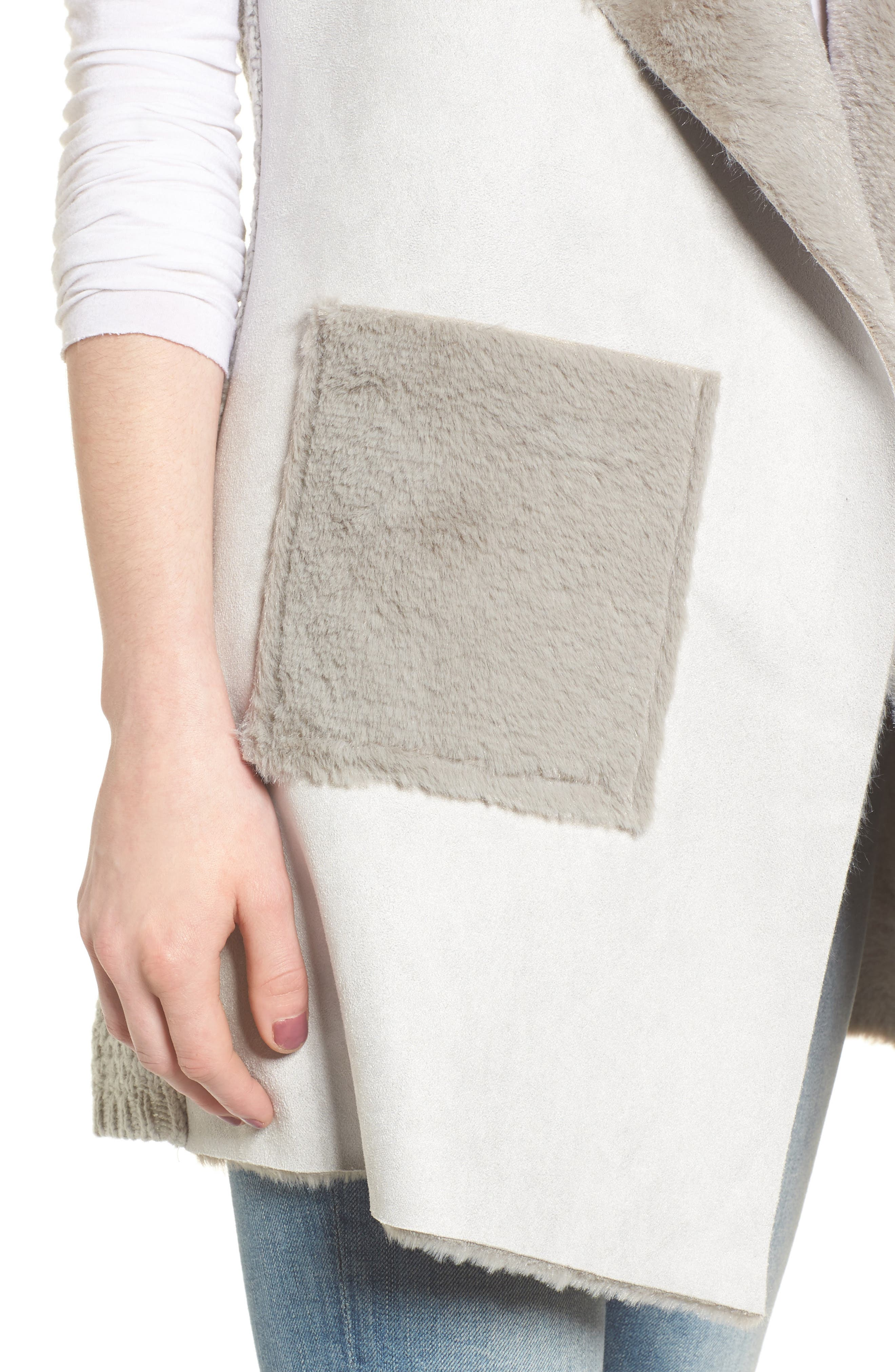 Faux Shearling Vest,                             Alternate thumbnail 11, color,