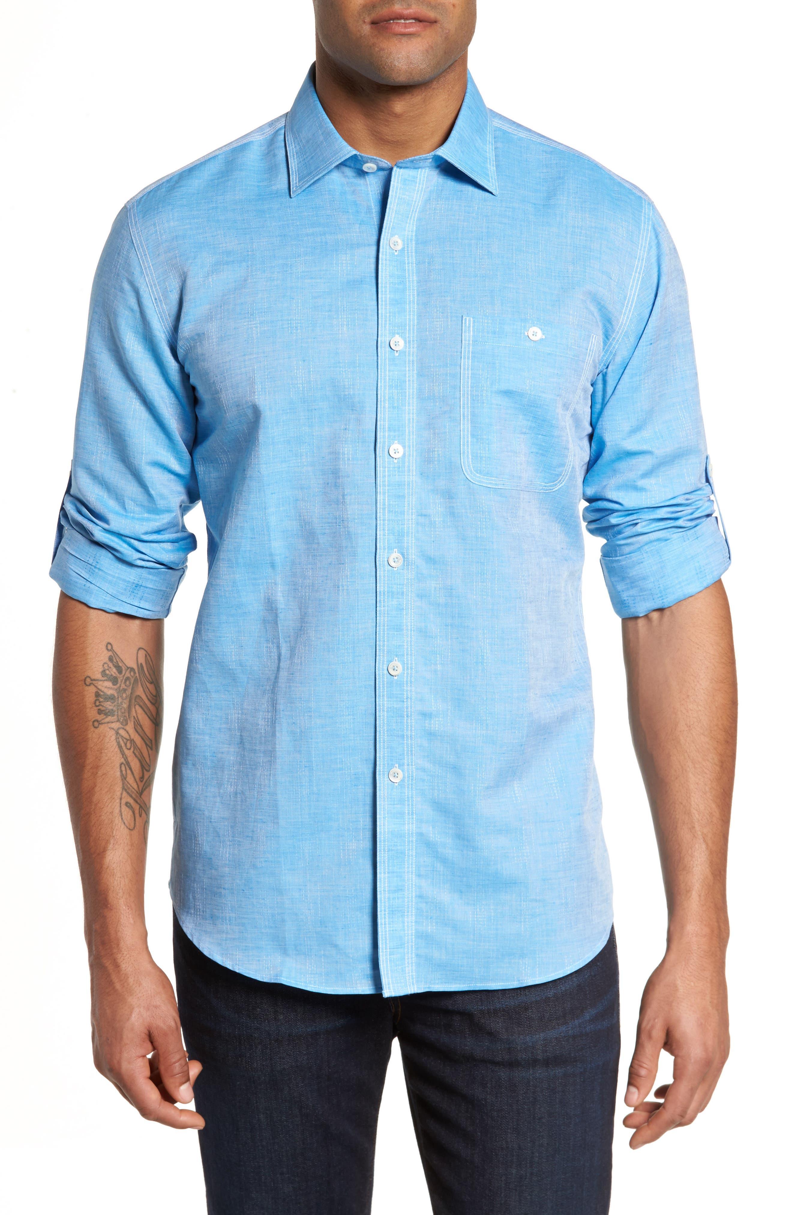 Shaped Fit Sport Shirt,                         Main,                         color, 425