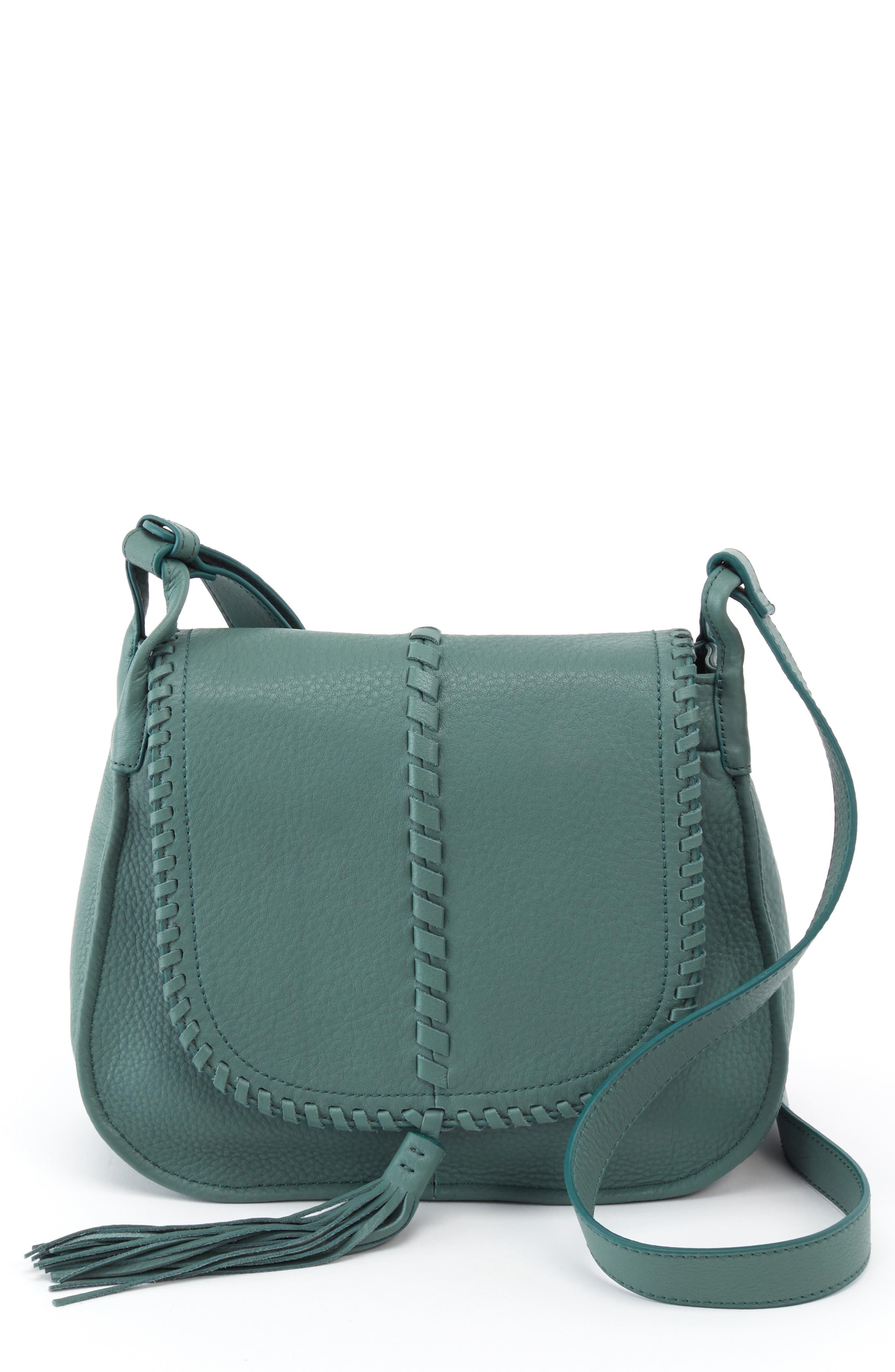 Brio Leather Crossbody Bag,                             Main thumbnail 1, color,                             MEADOW