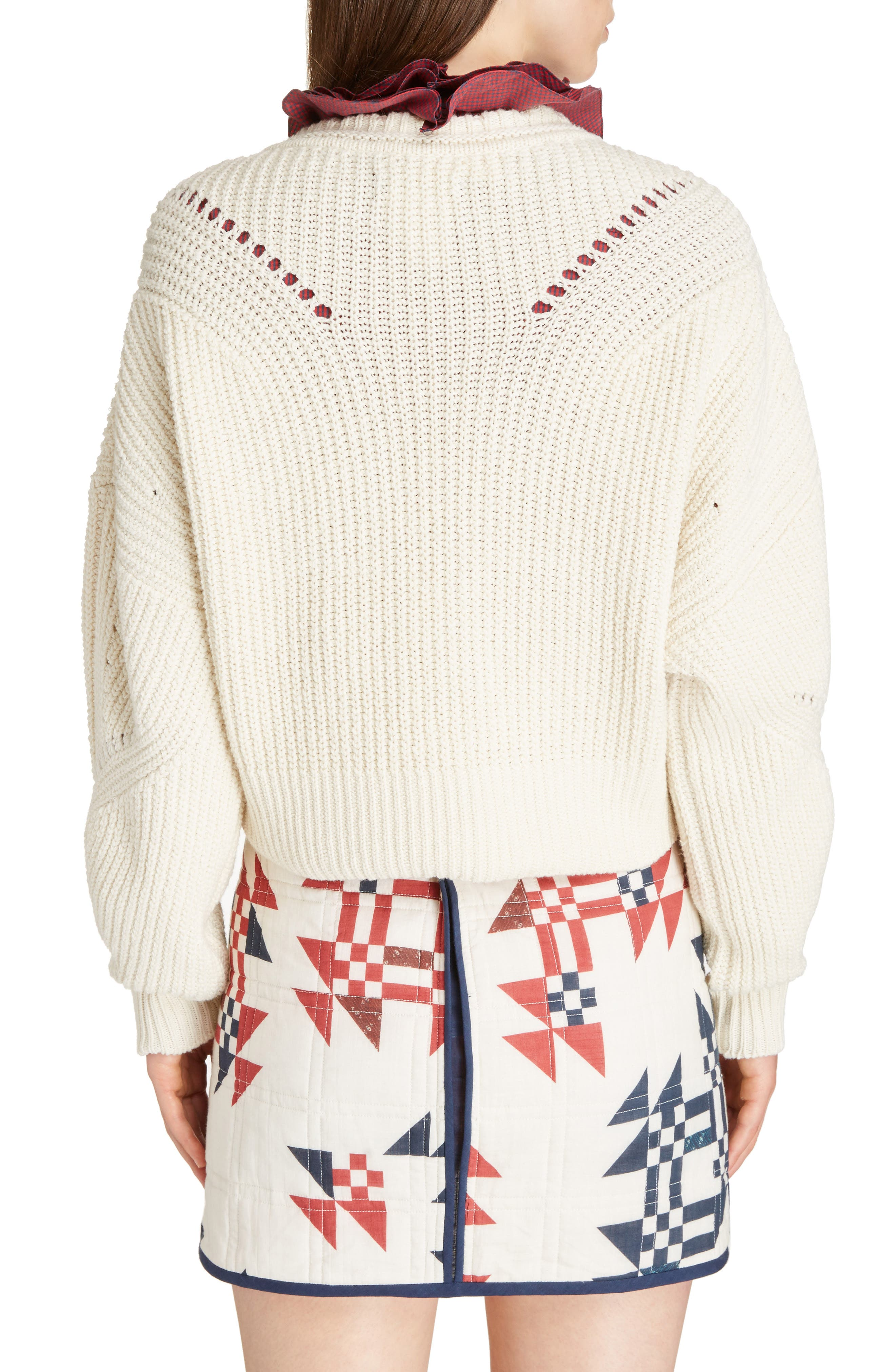 Laley Cotton & Wool Blend Sweater,                             Alternate thumbnail 2, color,