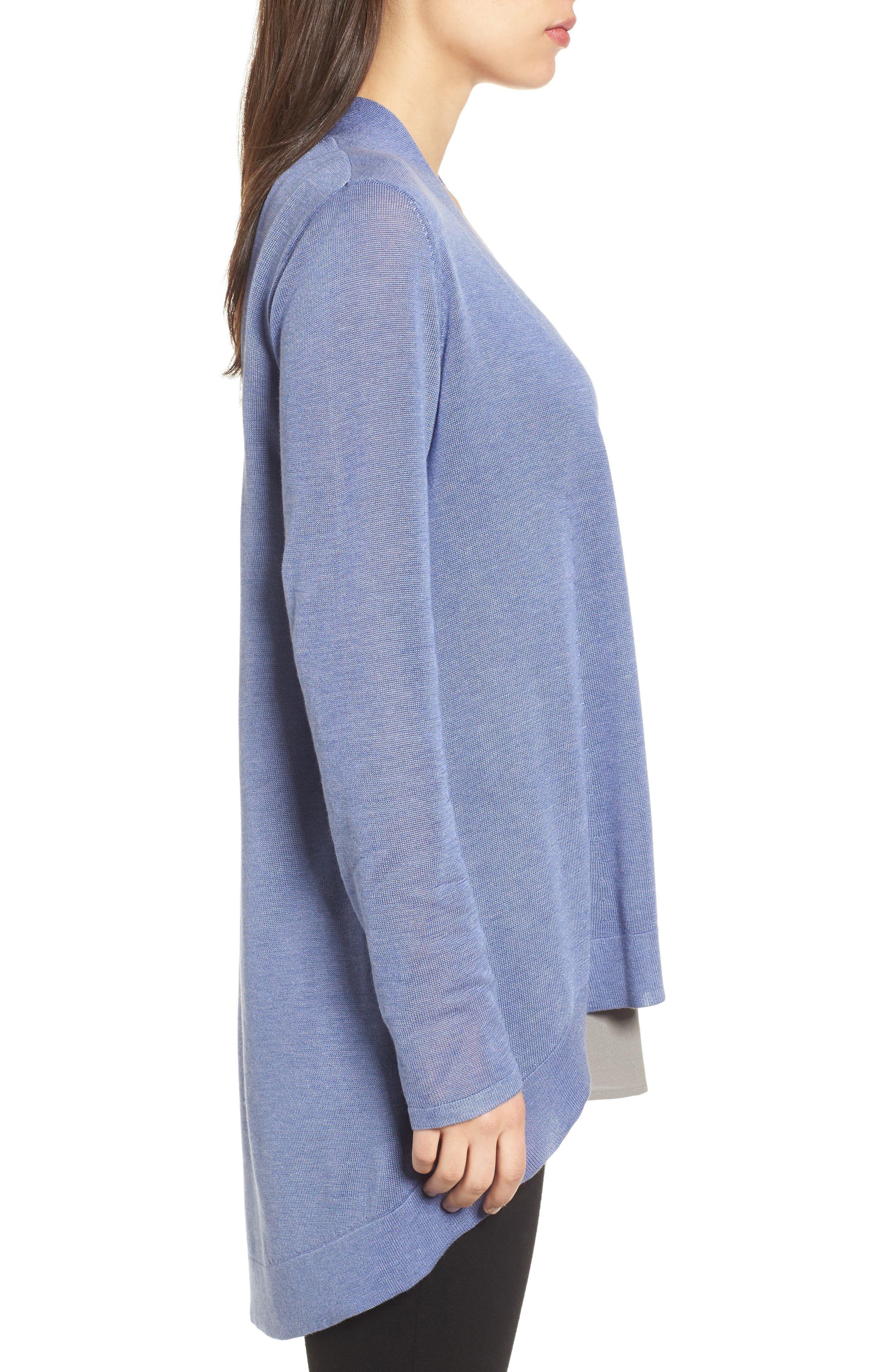 Tencel<sup>®</sup> Lyocell & Merino Wool Shaped Cardigan,                             Alternate thumbnail 13, color,