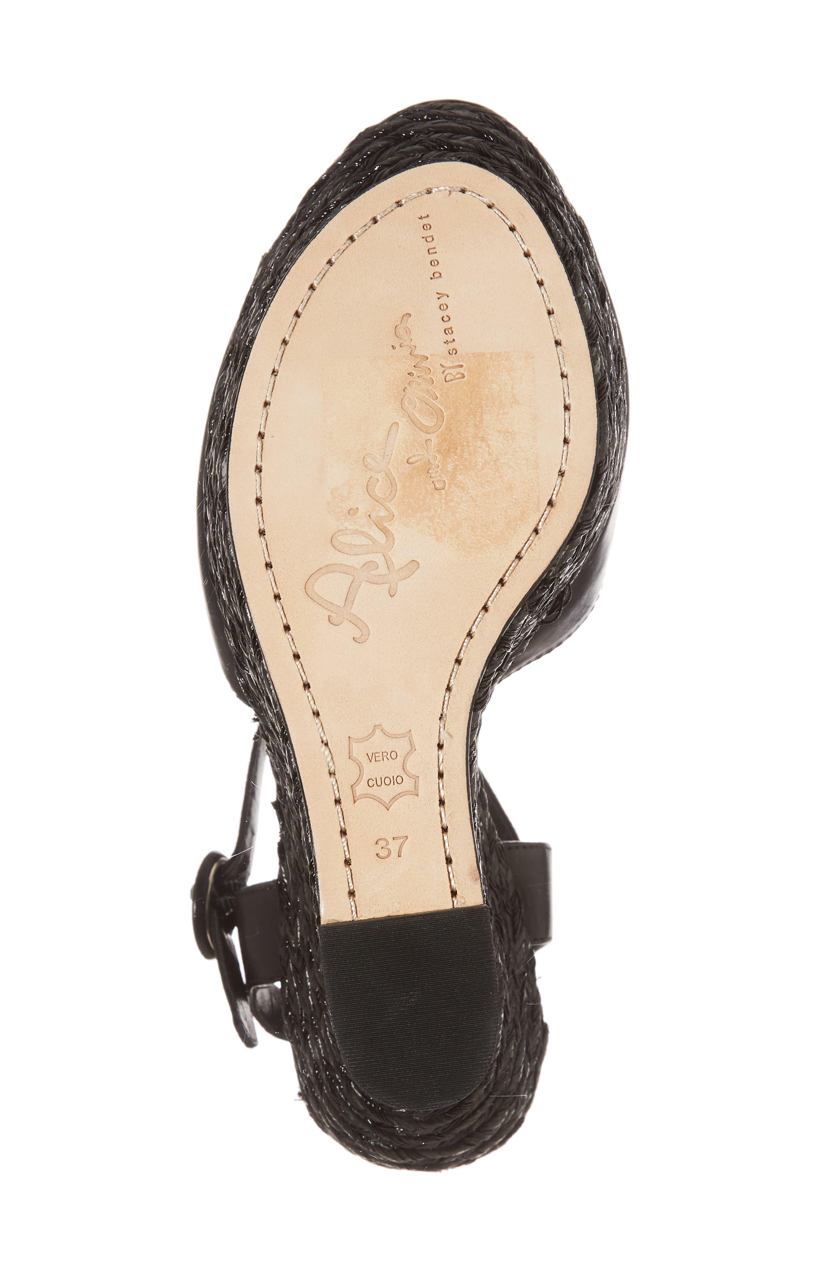 Jana Wedge Platform Sandal,                             Alternate thumbnail 6, color,                             001