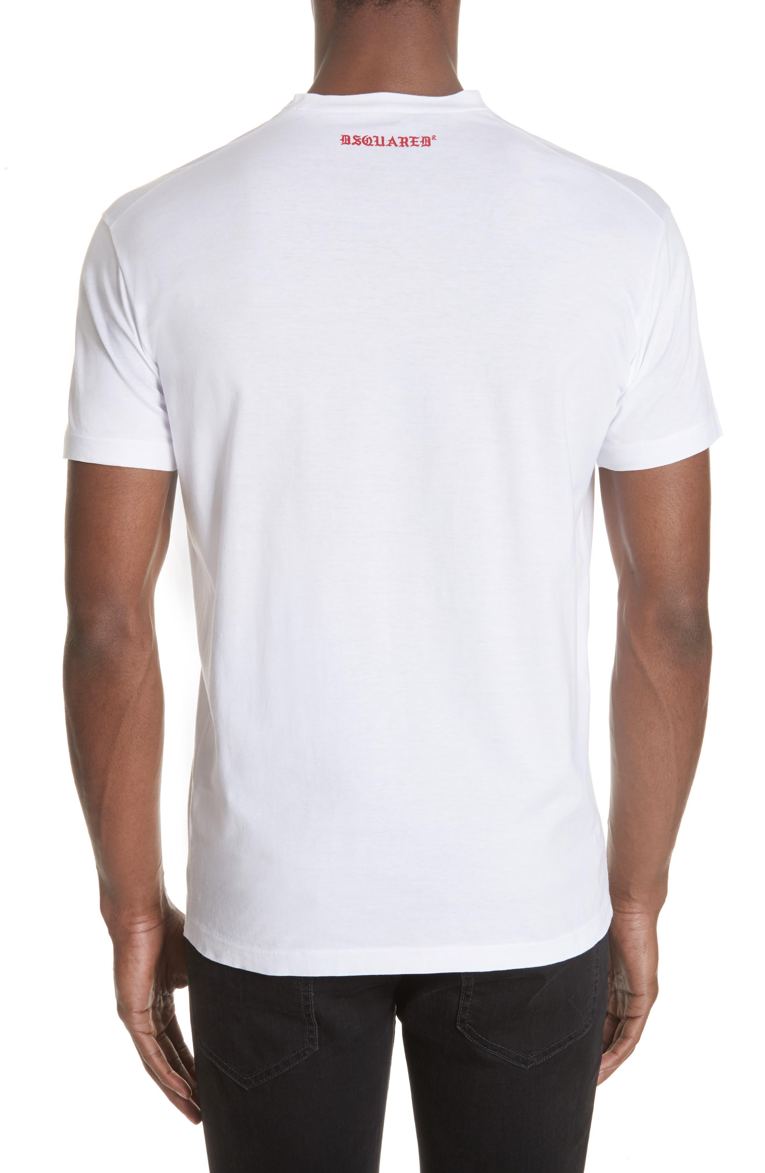 Old English Font T-Shirt,                             Alternate thumbnail 2, color,                             WHITE