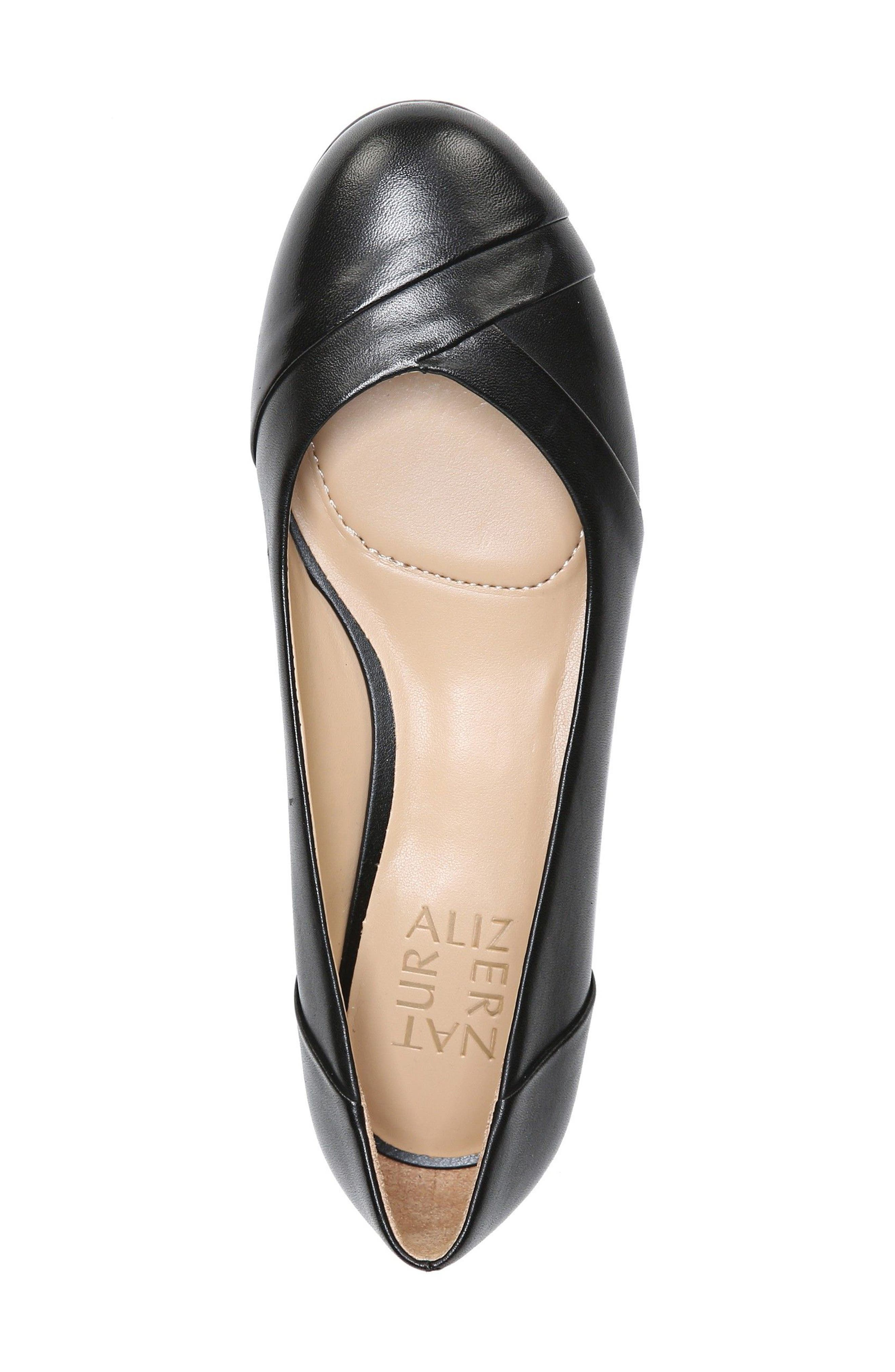 Gilly Flat,                             Alternate thumbnail 5, color,                             BLACK LEATHER